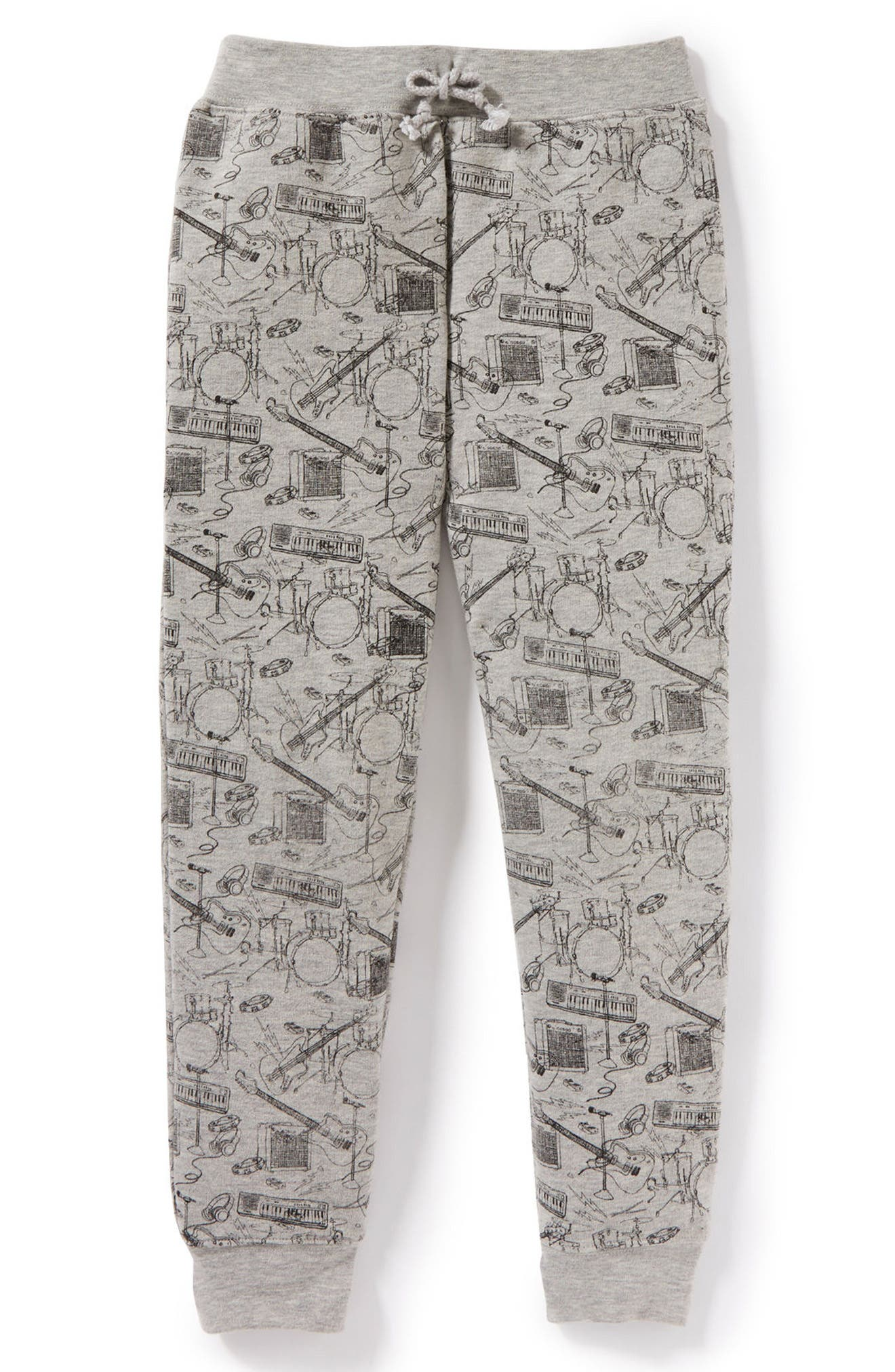 Music Graphic Sweatpants,                         Main,                         color, Heather Grey
