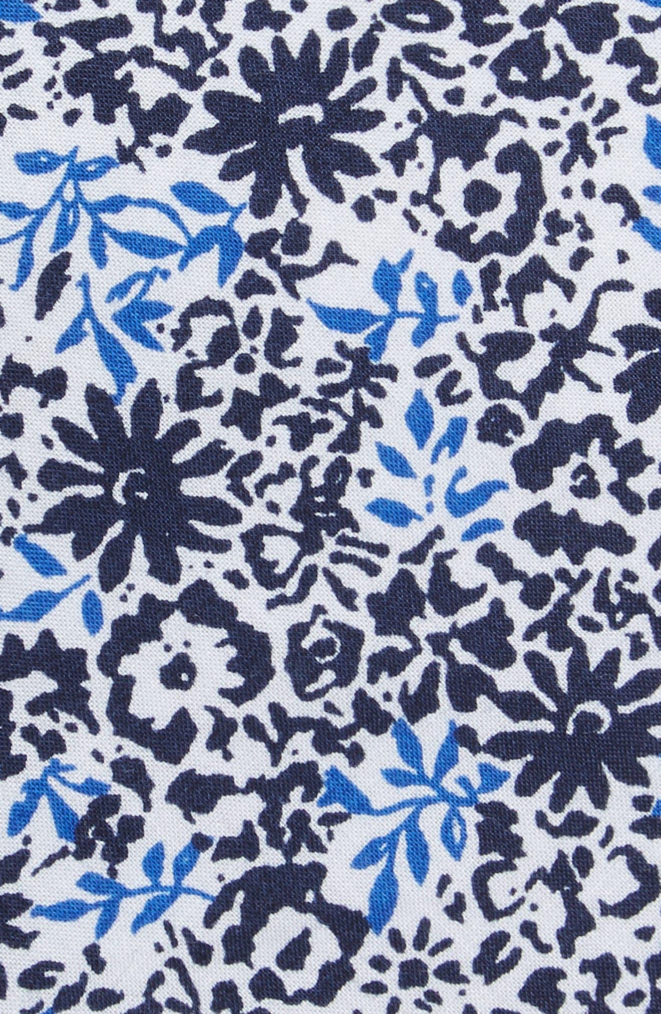 Grace Floral Print Cotton Skinny Tie,                             Alternate thumbnail 2, color,                             Navy