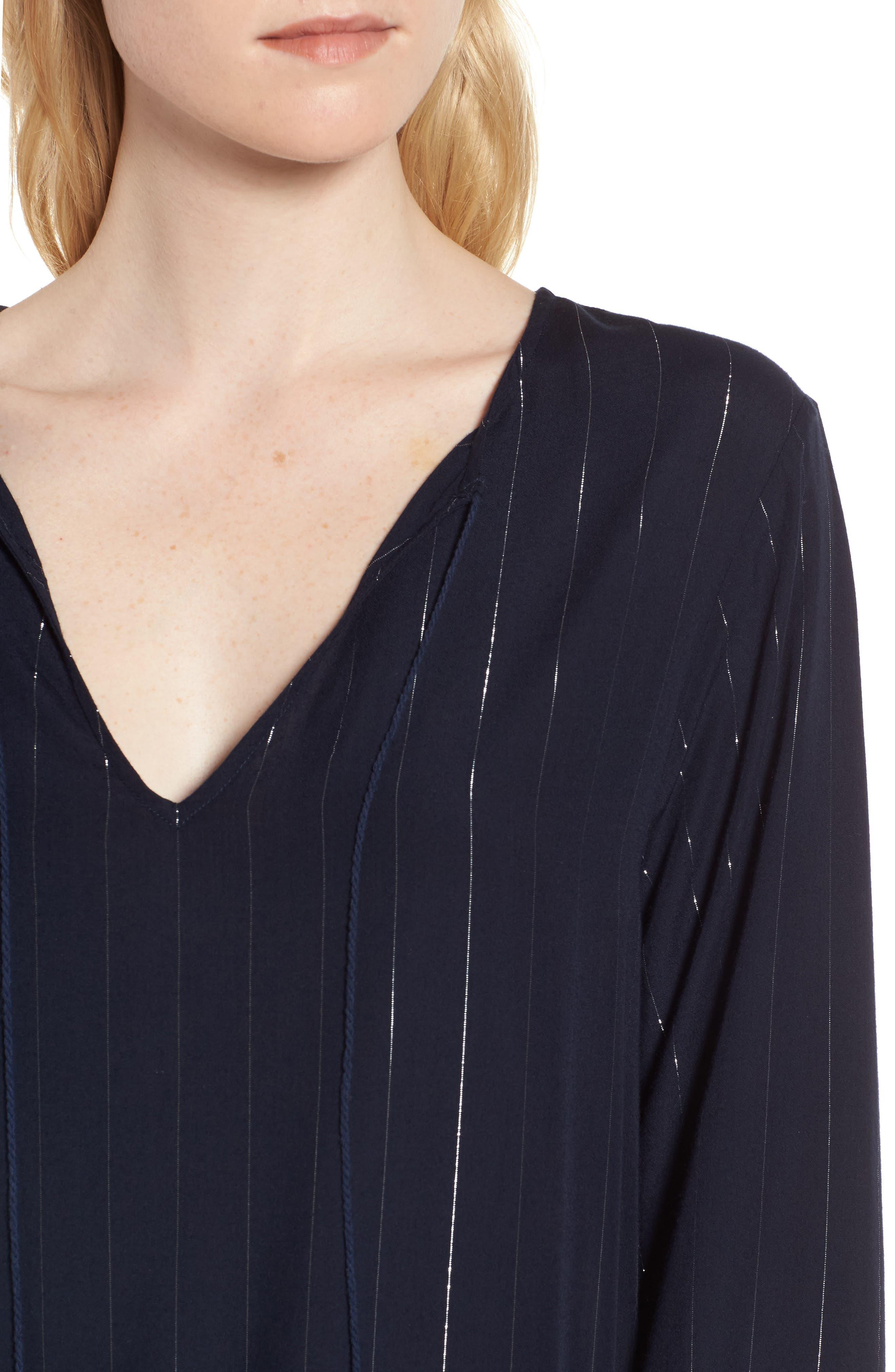 Lydia Shift Dress,                             Alternate thumbnail 4, color,                             Panama Stripe