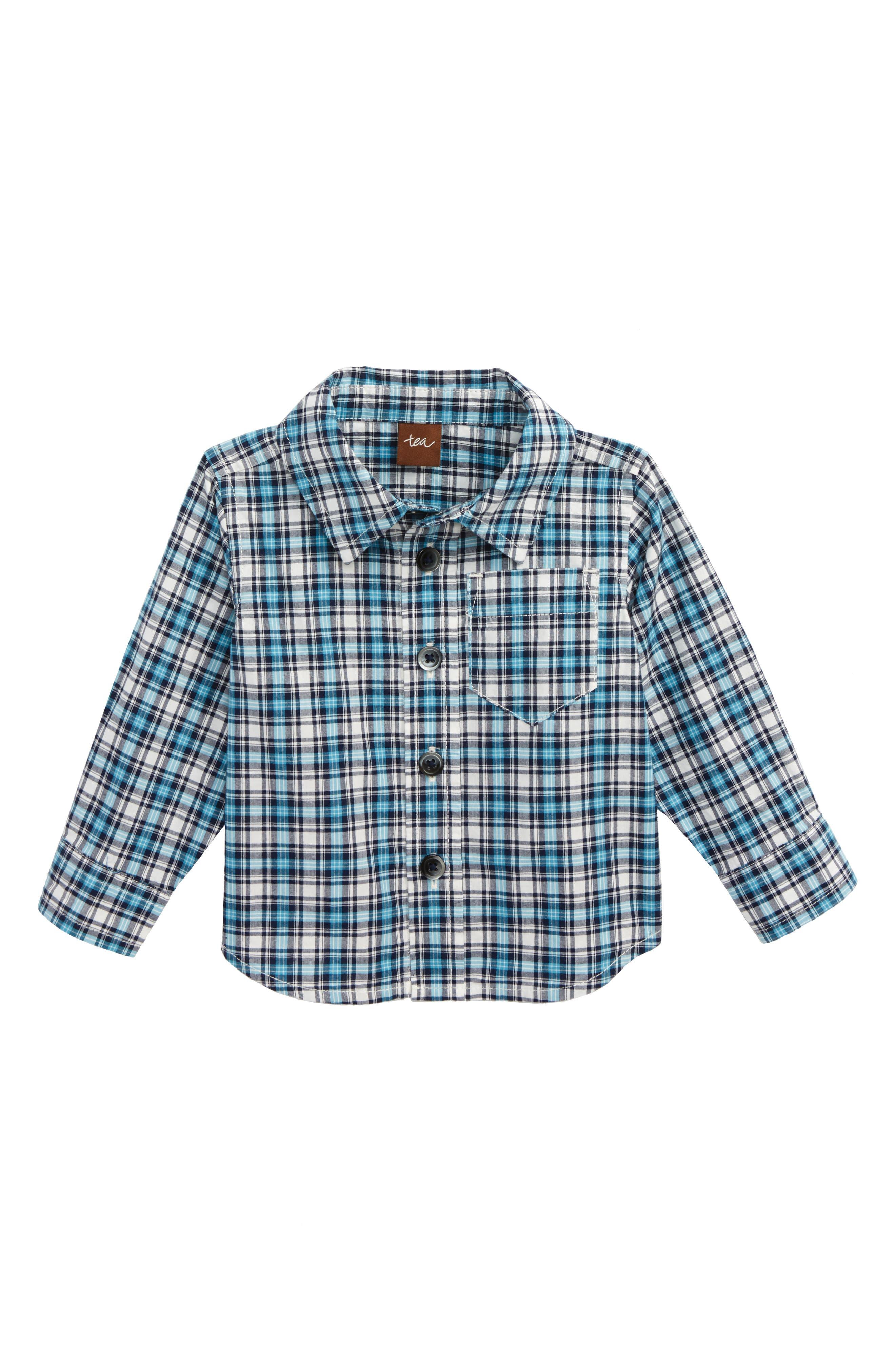Main Image - Tea Collection Heath Plaid Woven Shirt (Baby Boys)