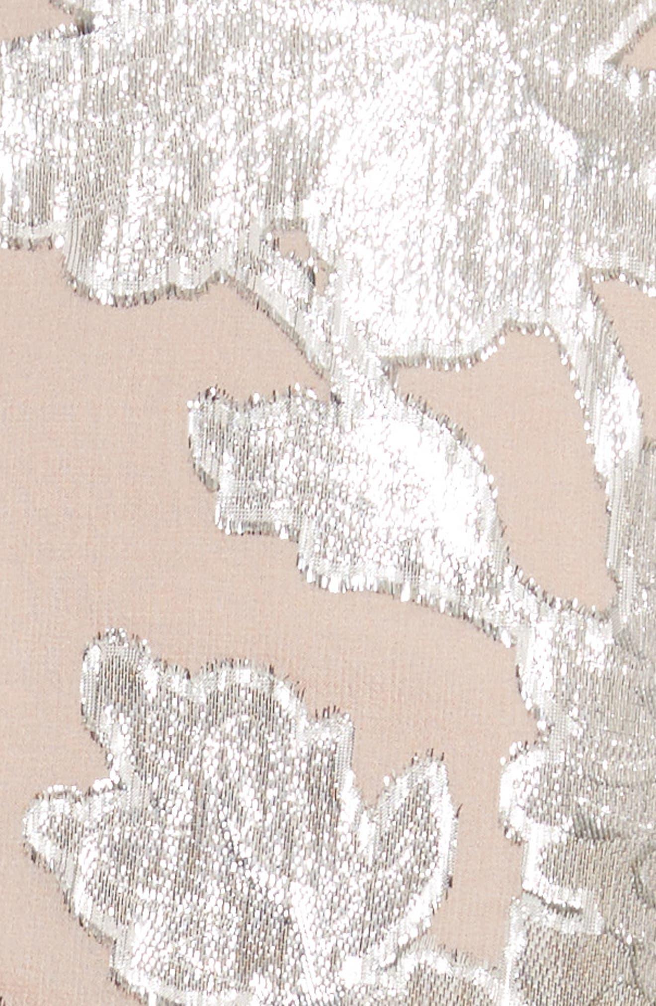 Alternate Image 5  - Self-Portrait Metallic Fil Coupé Ruffle Minidress