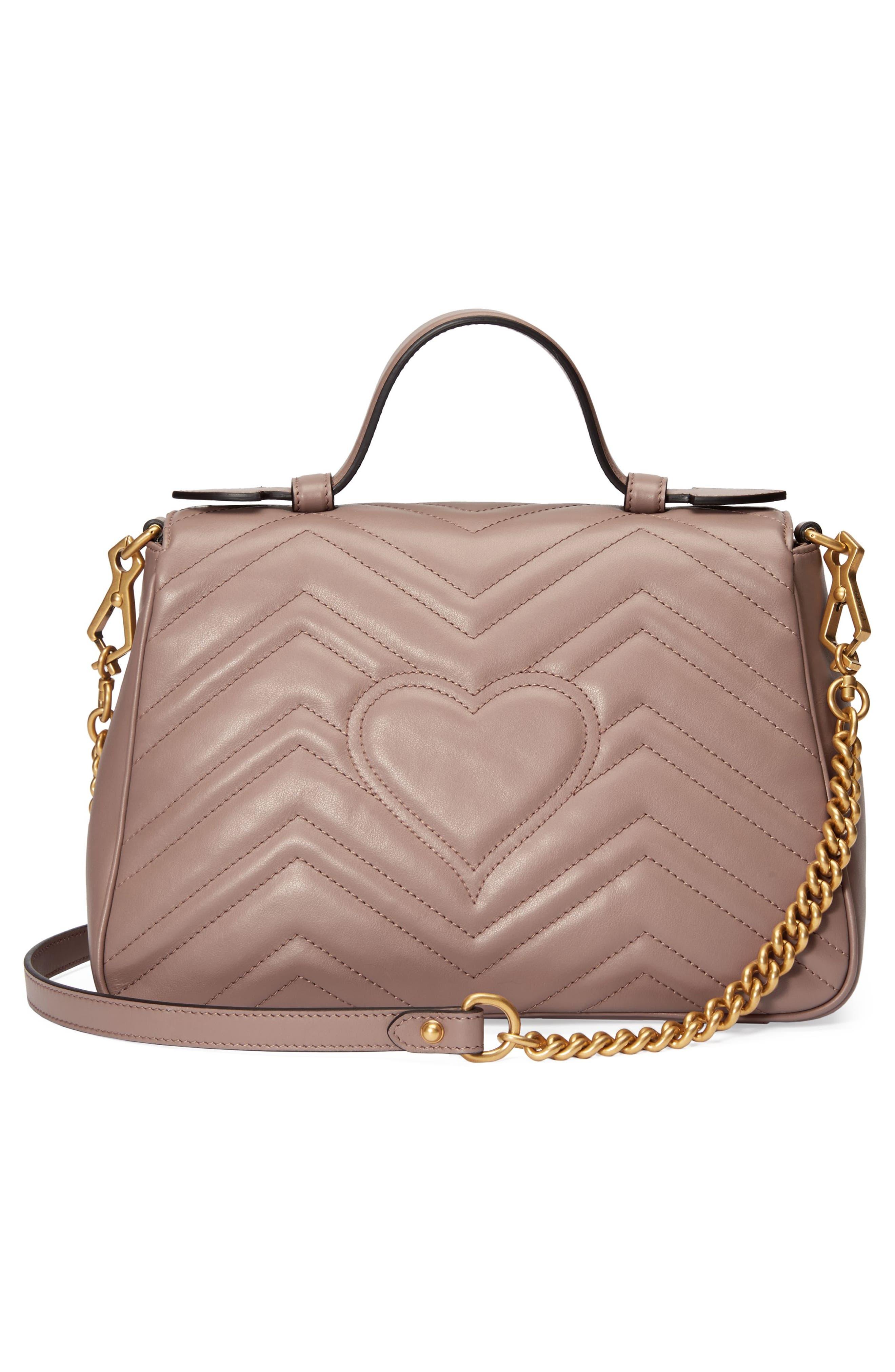 Small GG Marmont 2.0 Matelassé Leather Top Handle Bag,                             Alternate thumbnail 2, color,                             Porcelain Rose