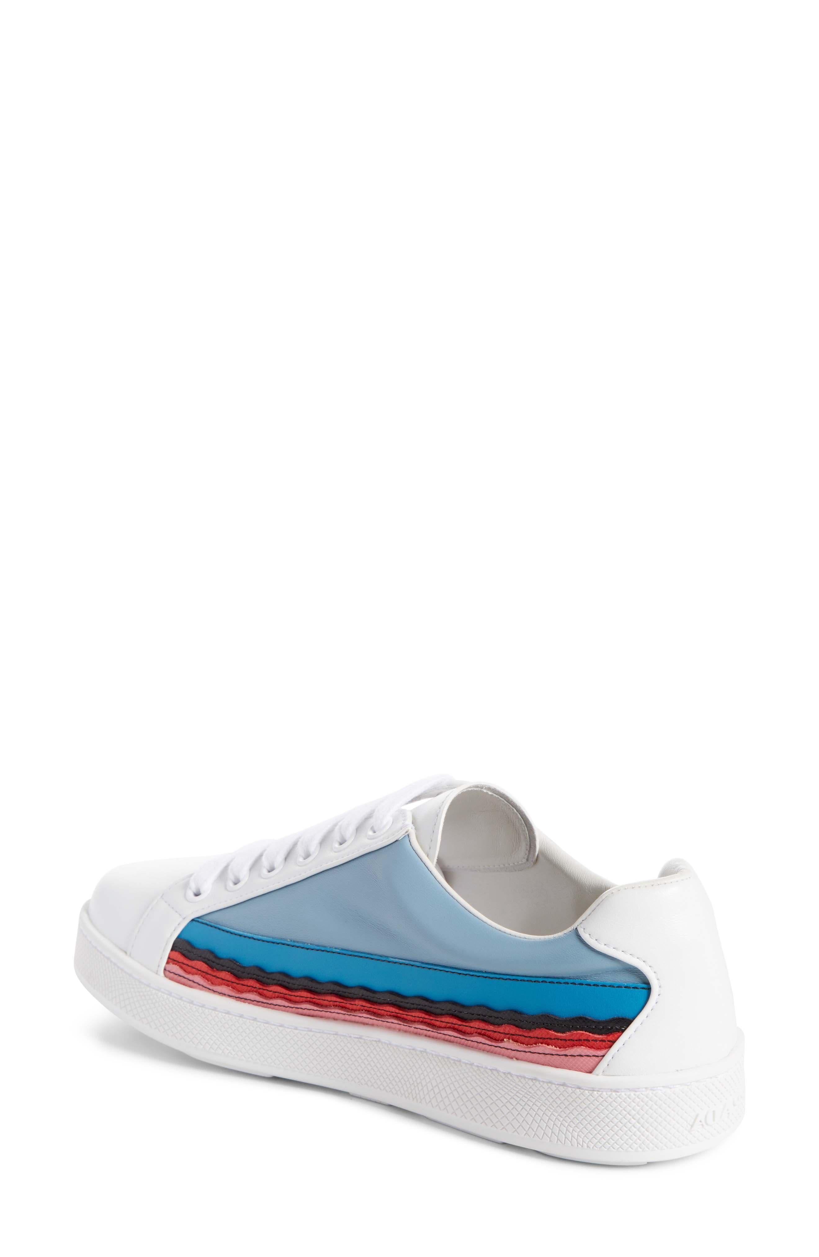 Boat Platform Lace-Up Sneaker,                             Alternate thumbnail 2, color,                             White