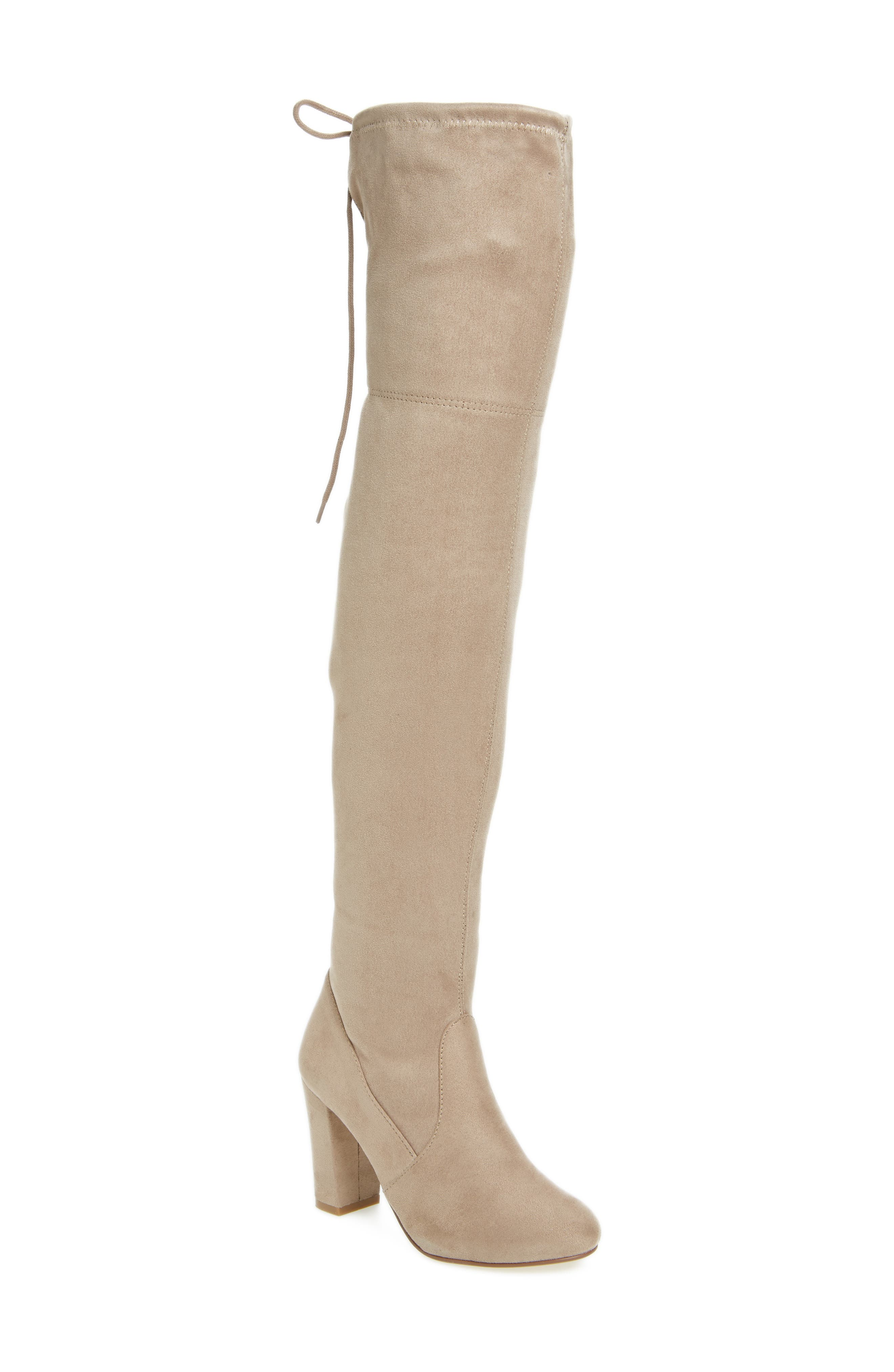 Brinna Over the Knee Boot,                             Main thumbnail 1, color,                             Toffee