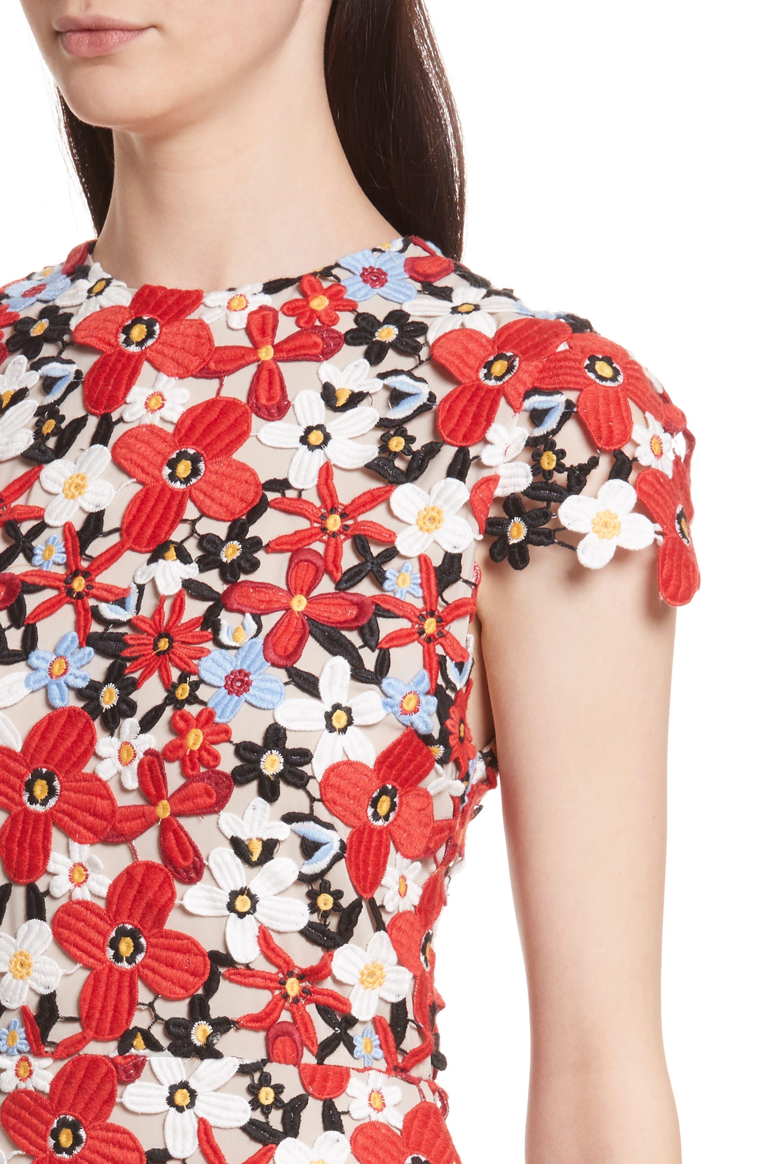 Alternate Image 4  - Alice + Olivia Imani Floral Fit & Flare Dress