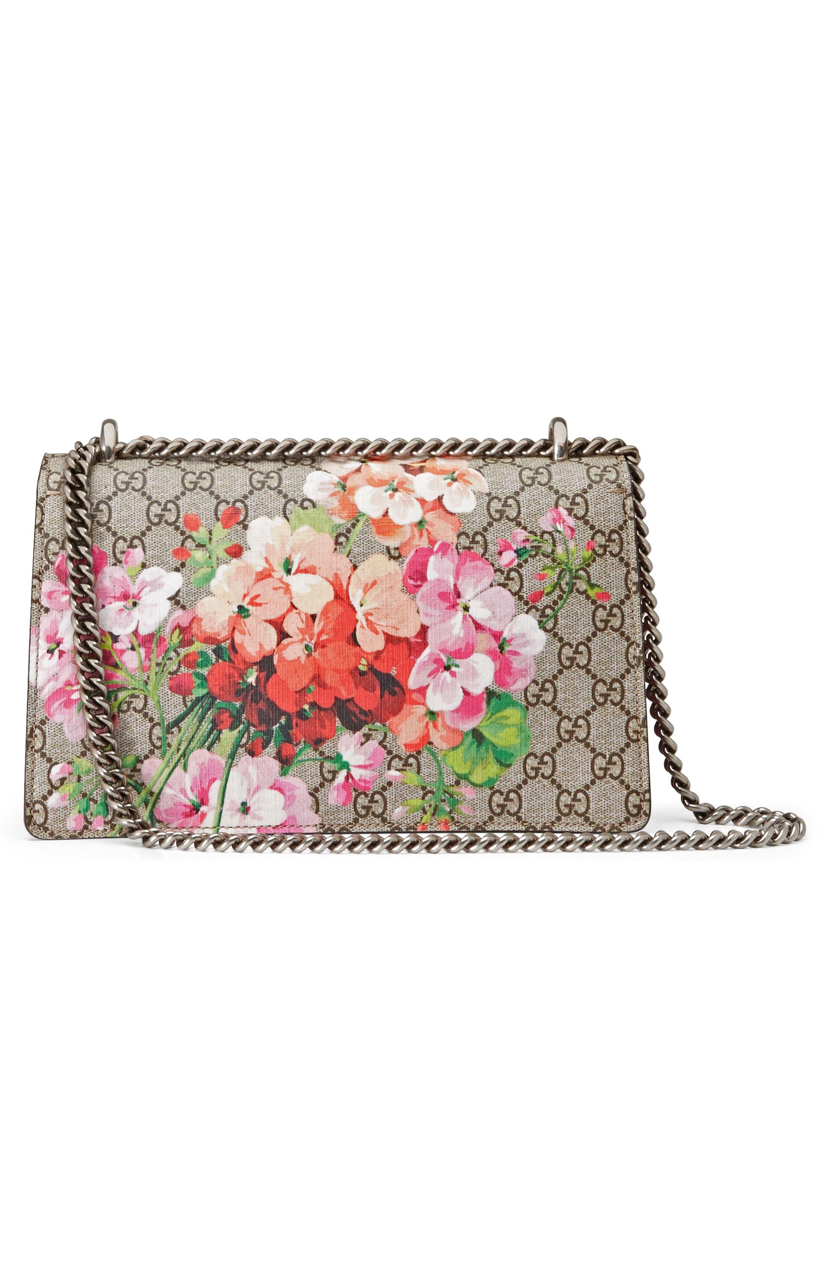 Small Dionysus Floral GG Supreme Canvas Shoulder Bag,                             Alternate thumbnail 2, color,                             Beige Ebony/ Dry Rose