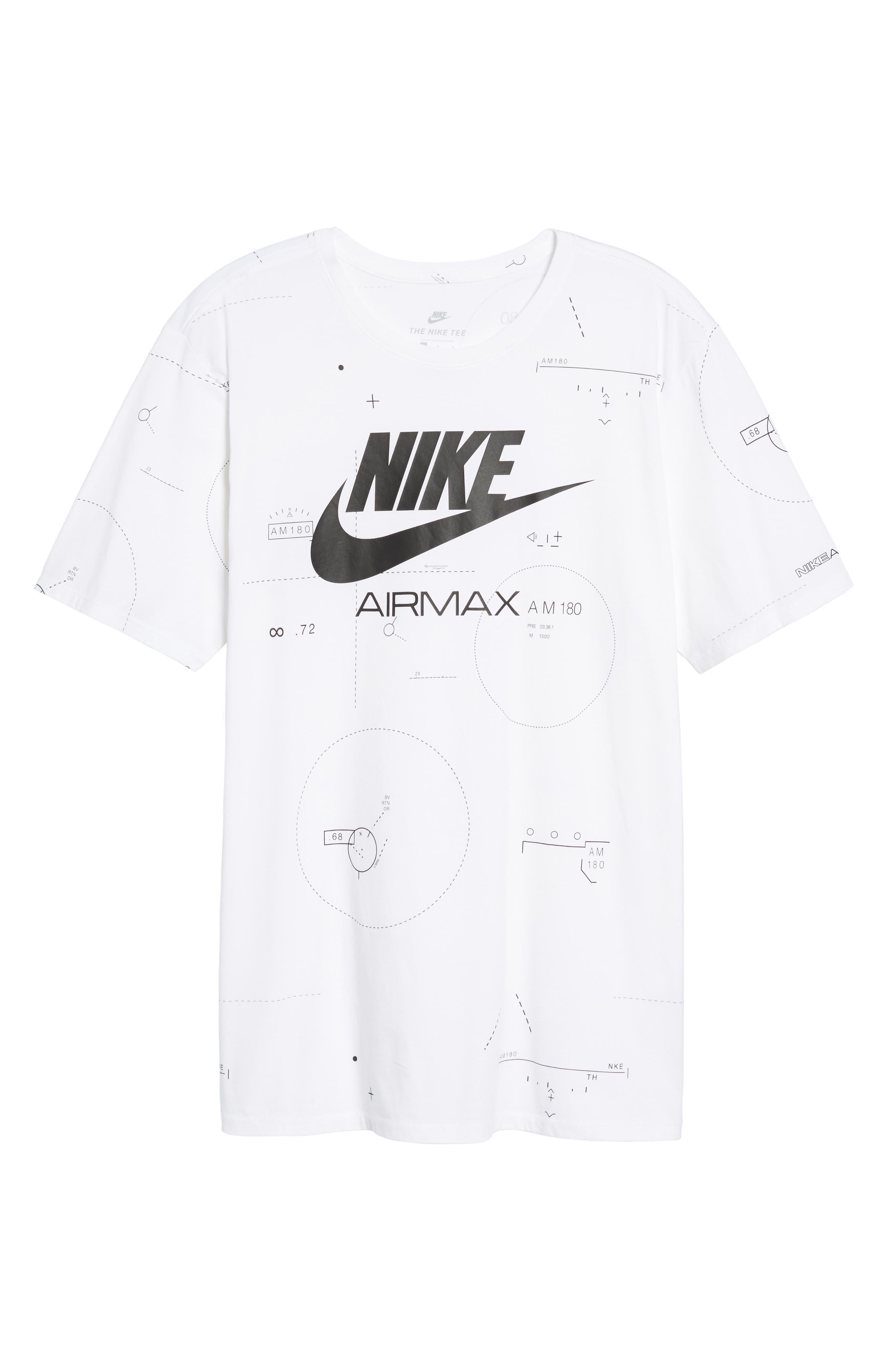 NSW Air Max 2 T-Shirt,                             Alternate thumbnail 7, color,                             White/ Black