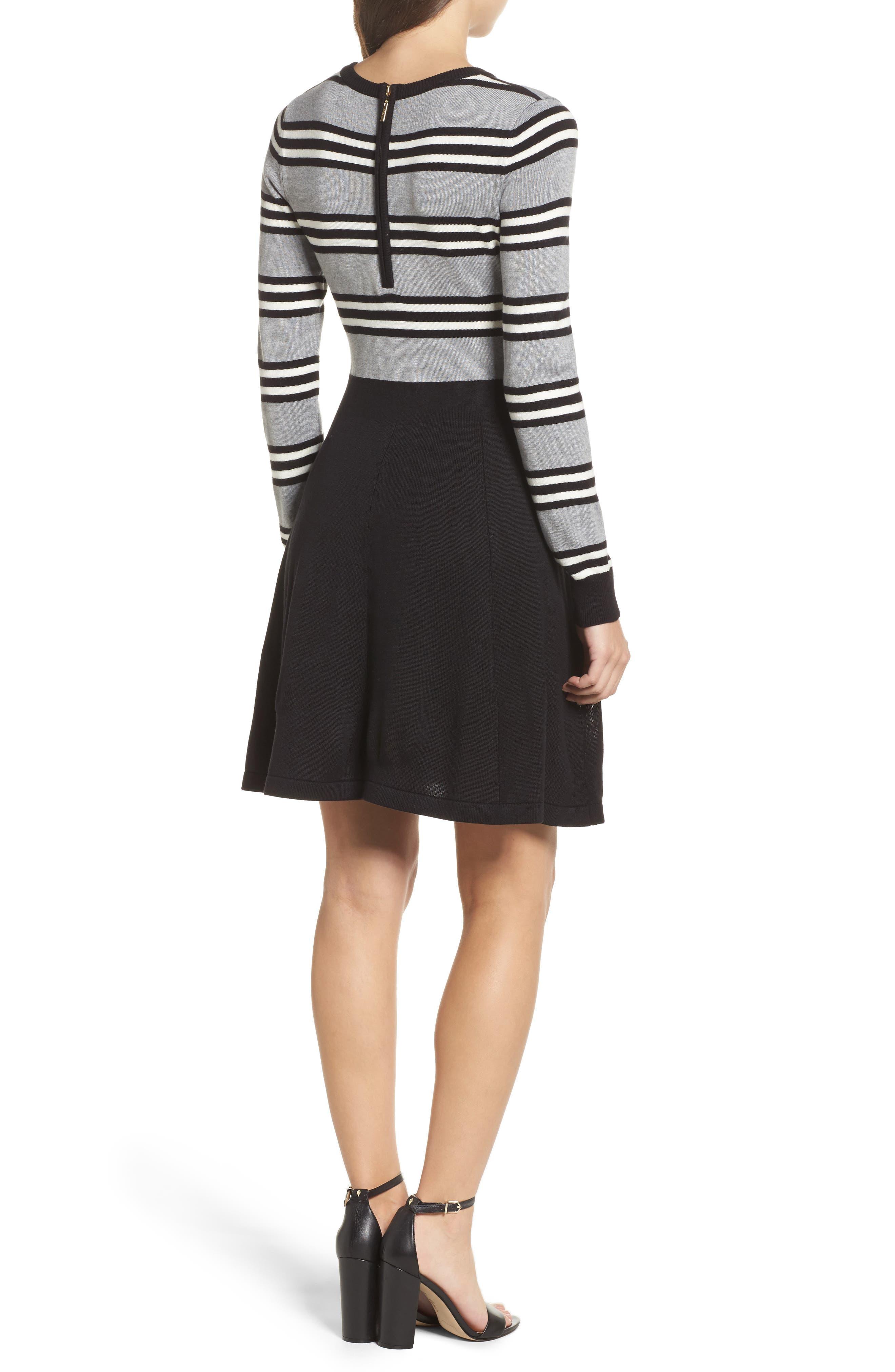 Fit & Flare Sweater Dress,                             Alternate thumbnail 2, color,                             Multi