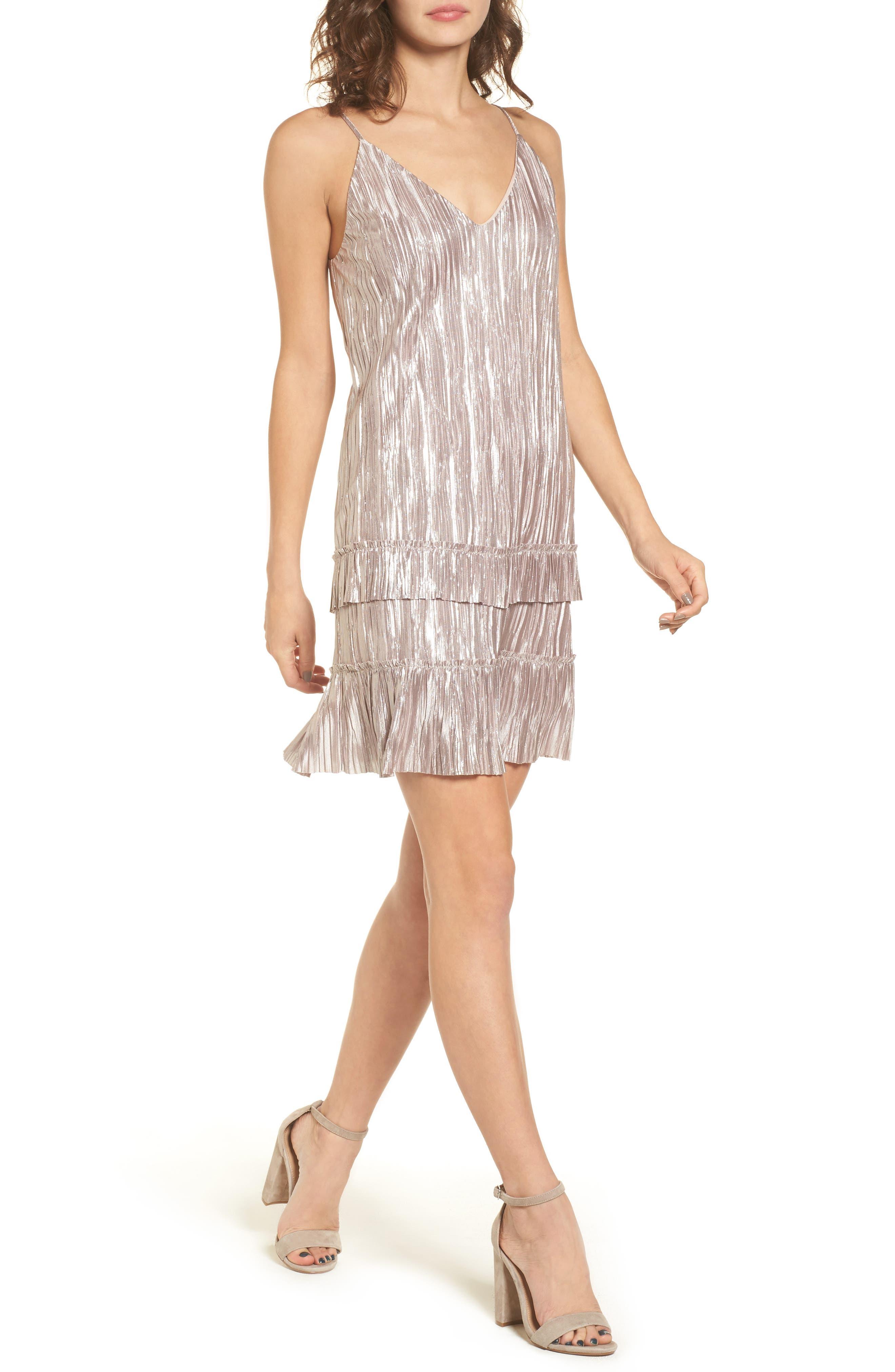 Bastille Slip Dress,                         Main,                         color, Champagne