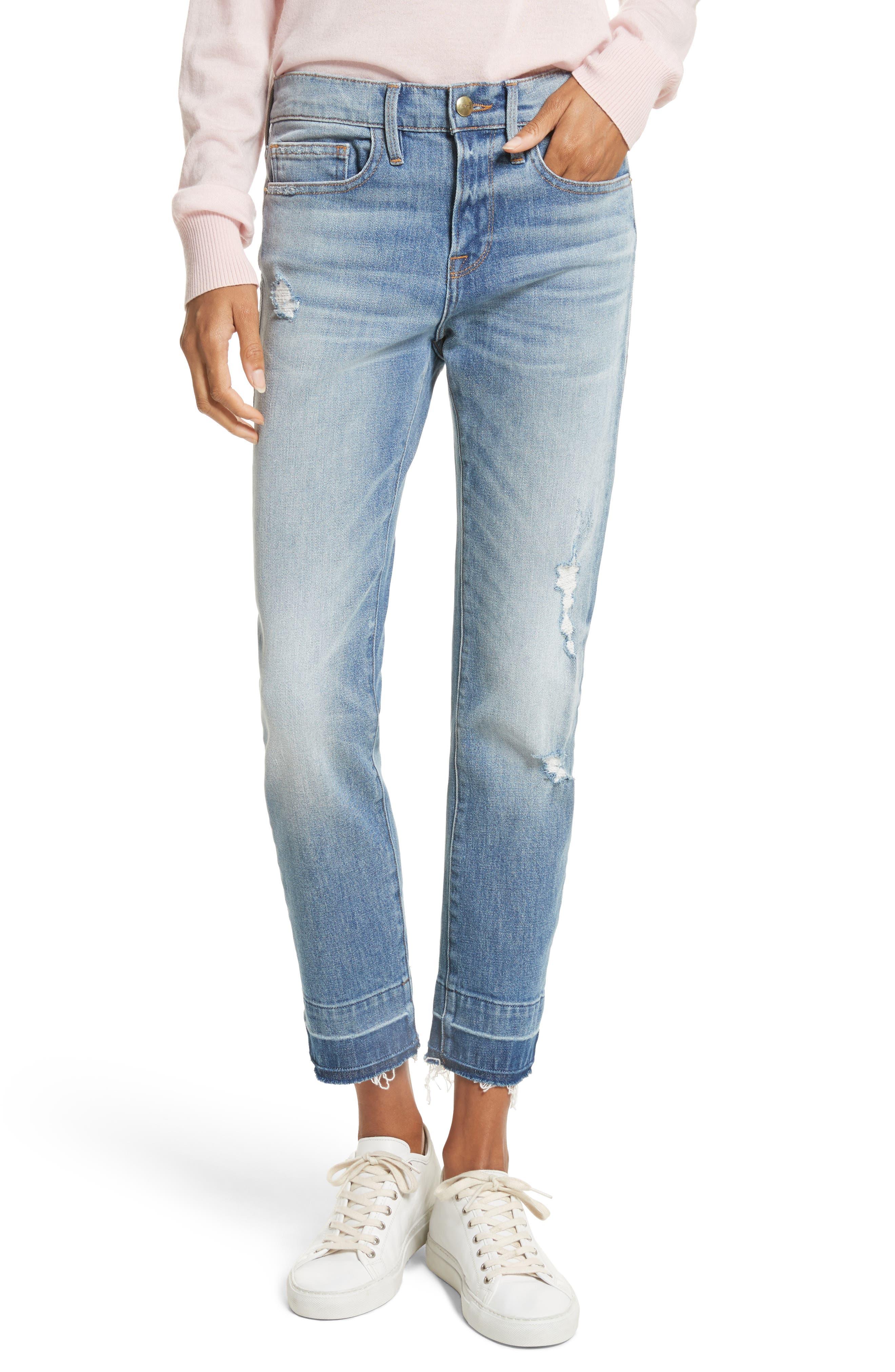 Le Boy Ripped High Waist Jeans,                         Main,                         color, Klinedale