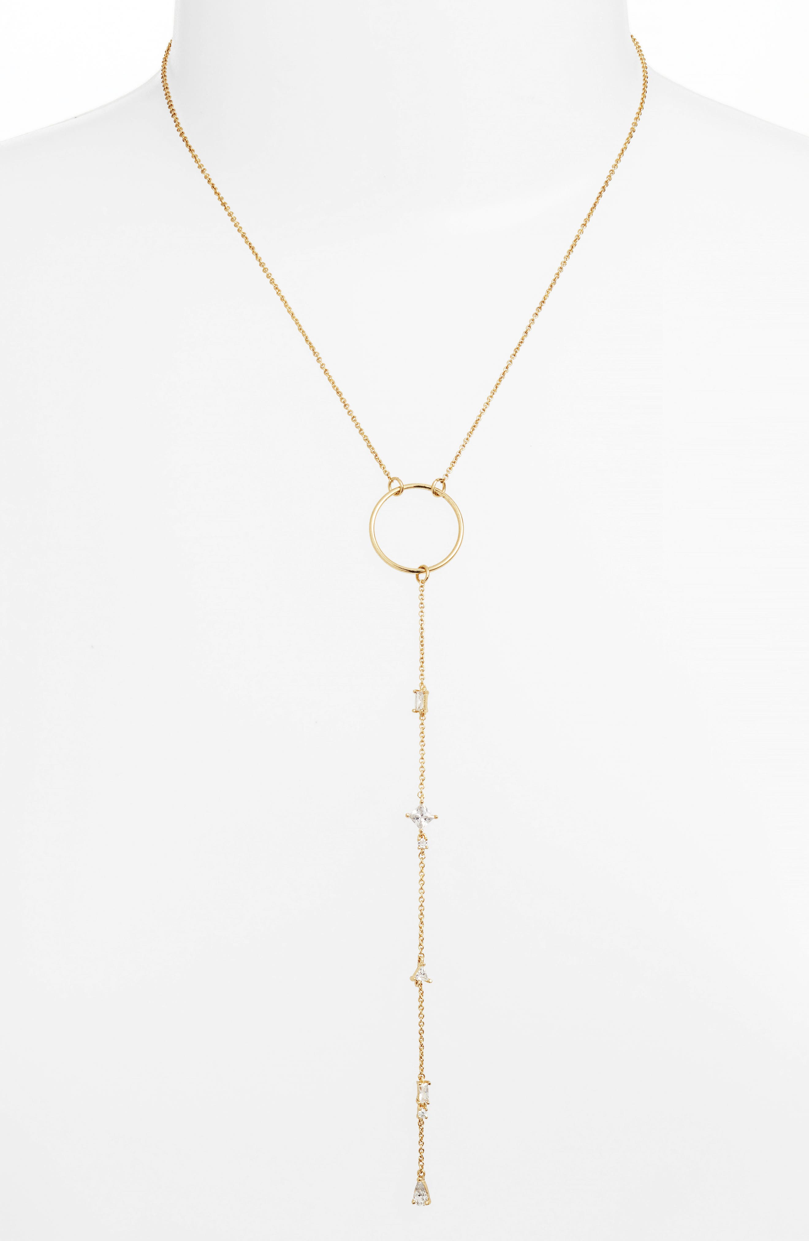 Luv AJ Scattered Jewel Y-Necklace
