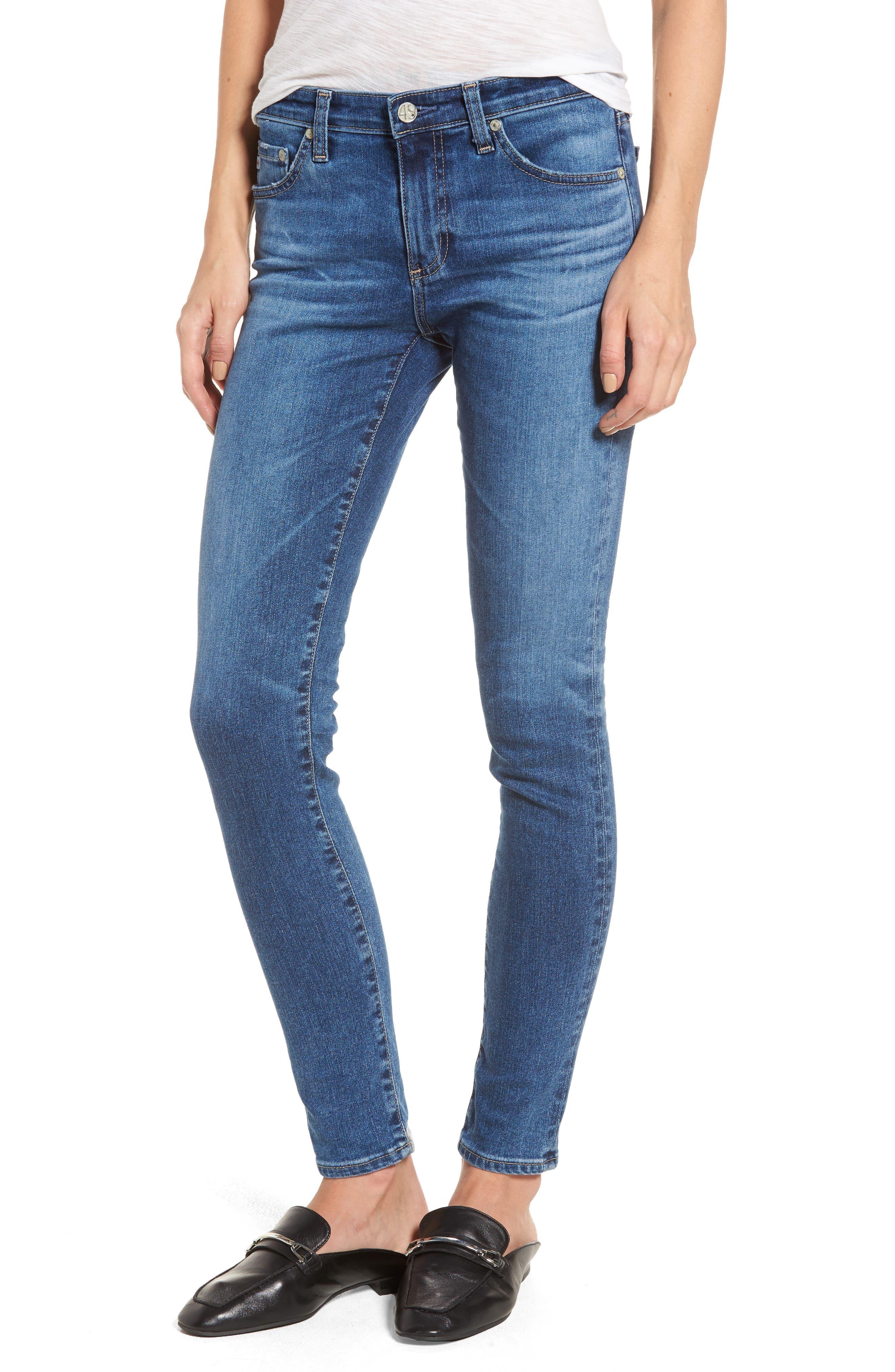 Alternate Image 1 Selected - AG The Legging Ankle Super Skinny Jeans (17 Years Sea Drift)