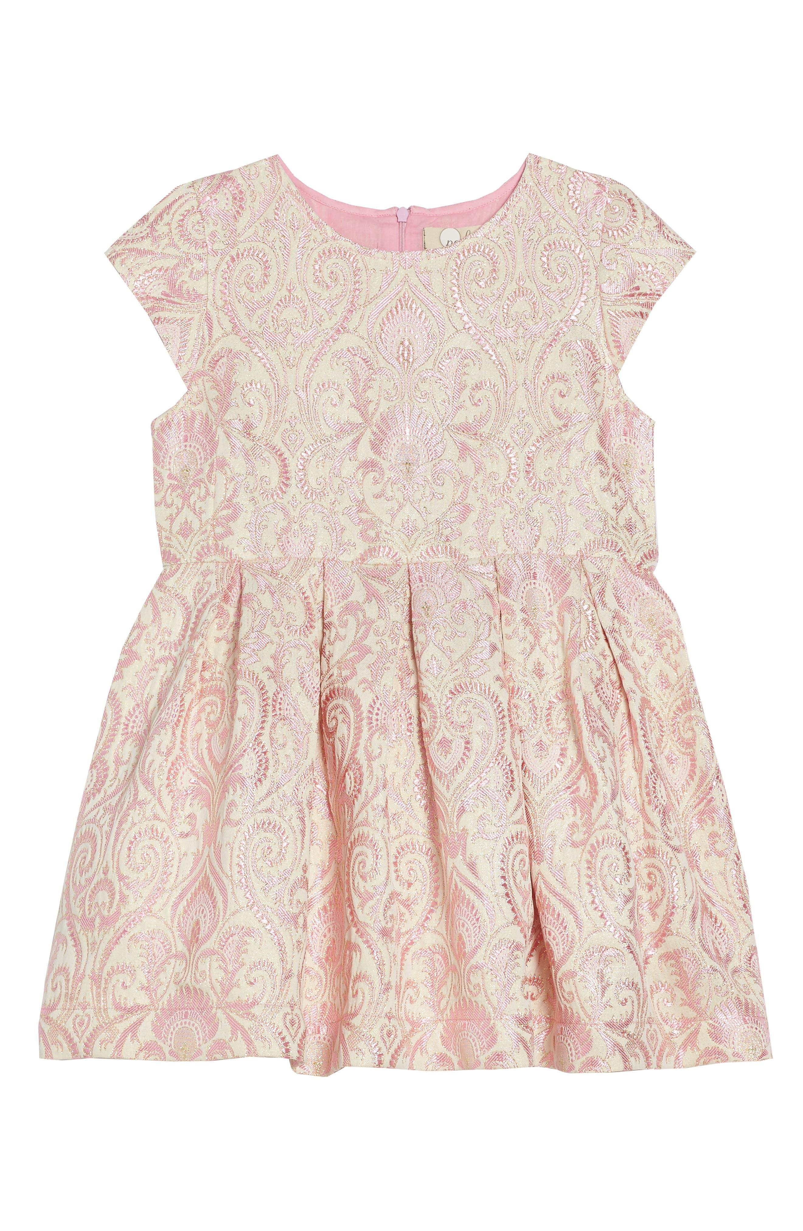 Lenox Brocade Dress,                             Main thumbnail 1, color,                             Pink