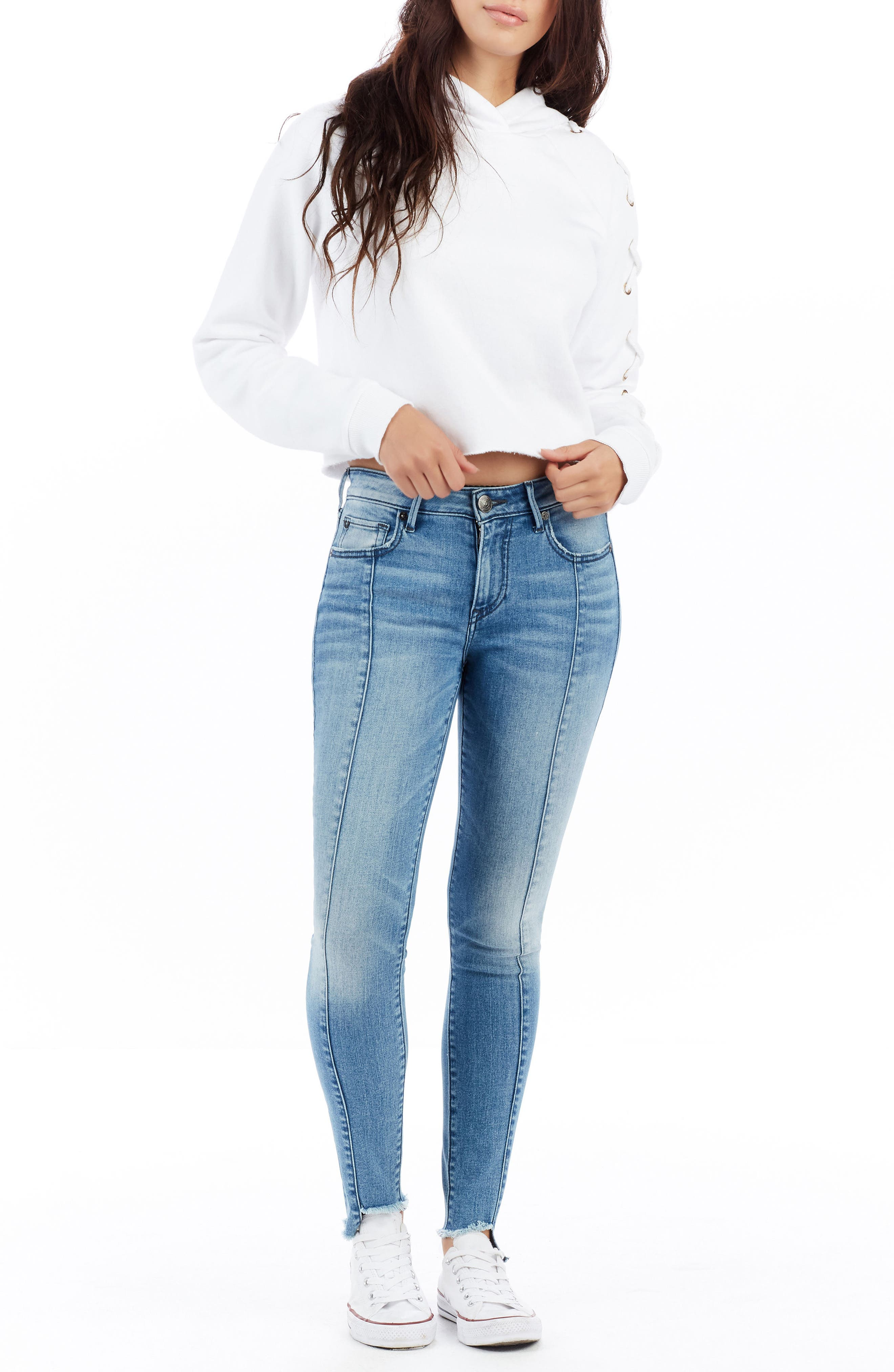 Jennie Curvy Ankle Skinny Jeans,                             Alternate thumbnail 2, color,                             Island Fever