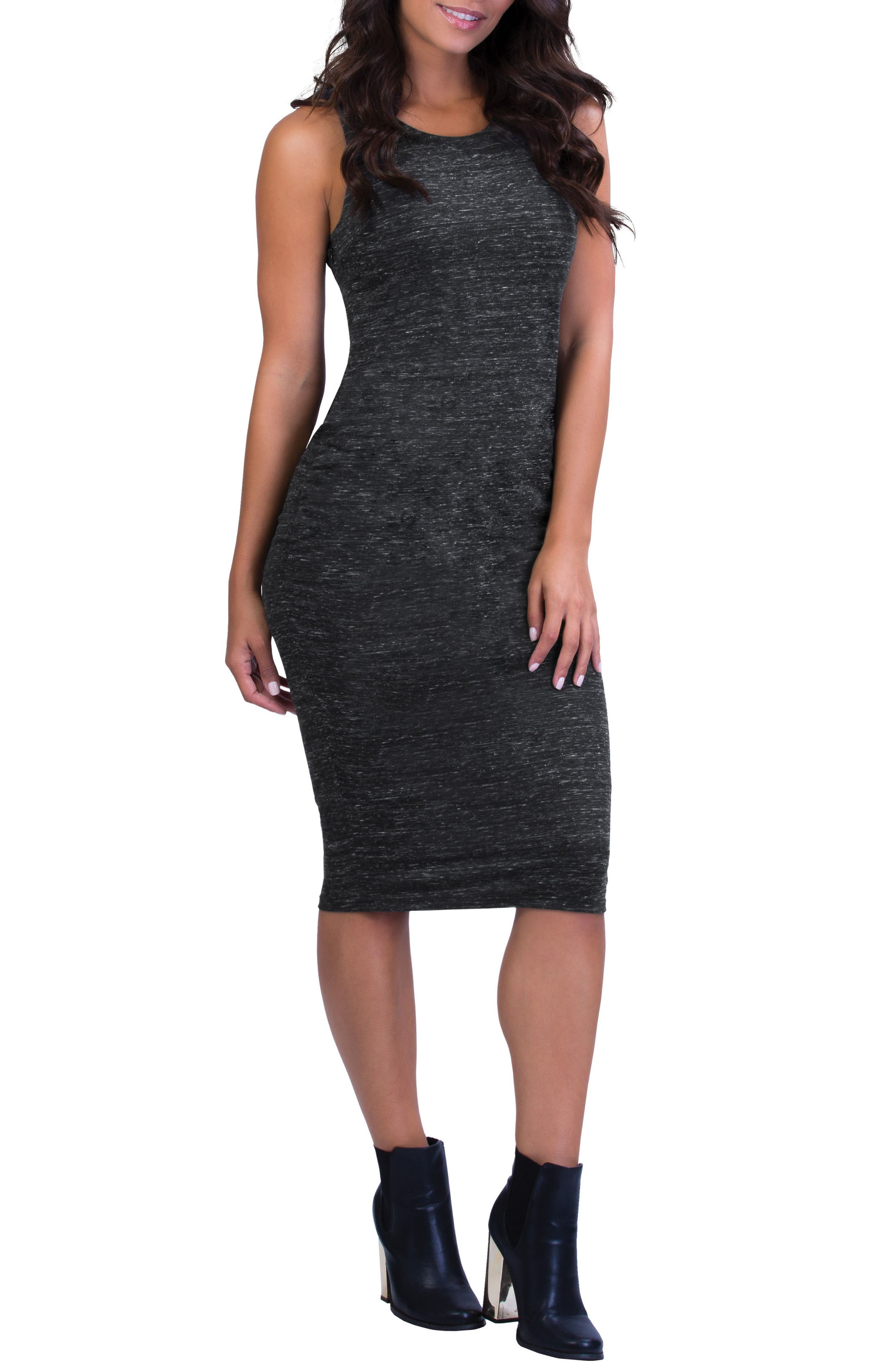 Main Image - Belly Bandit® Perfect Ruched Maternity/Nursing Dress