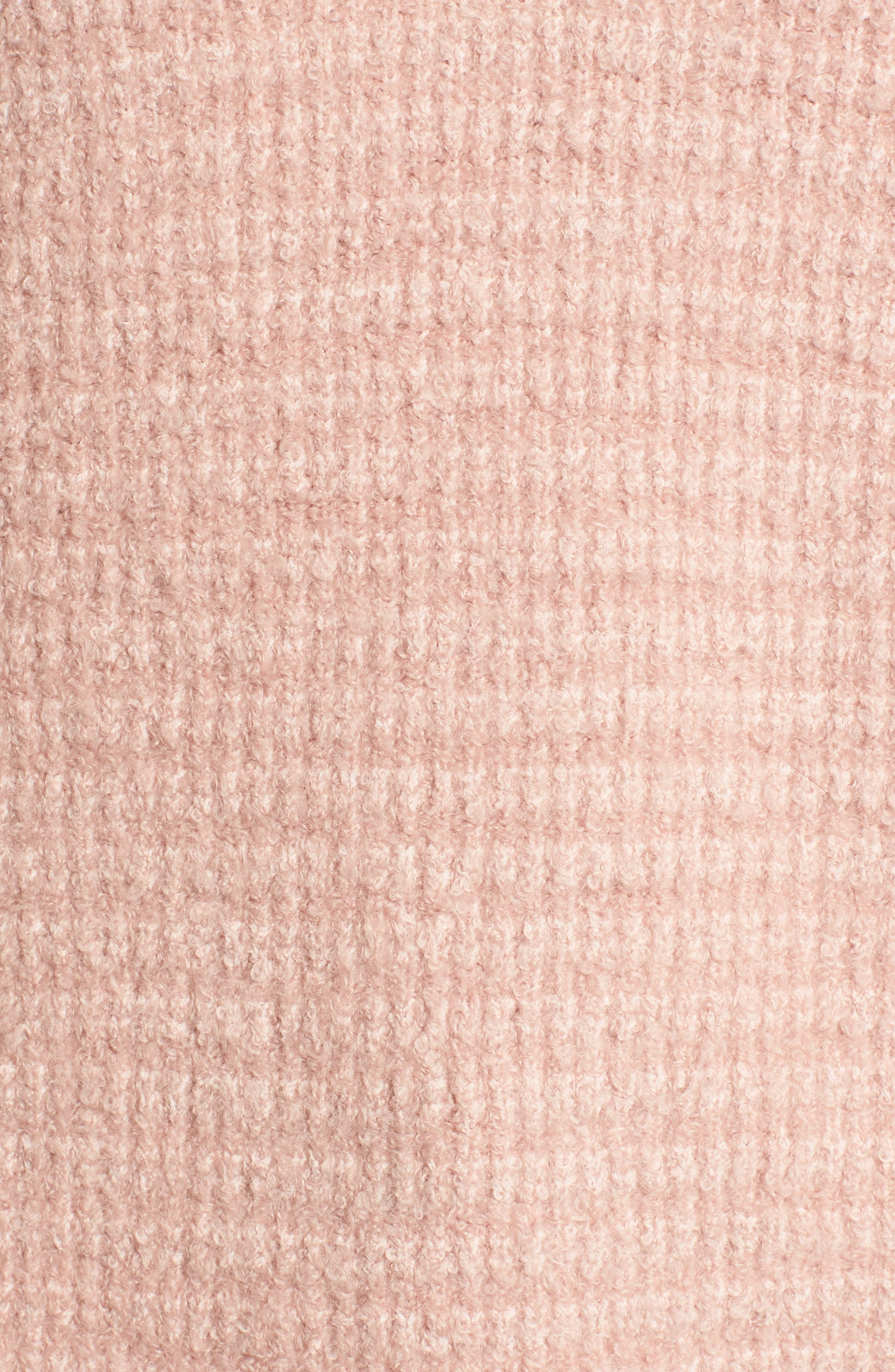 Lace Inset V-Neck Sweater,                             Alternate thumbnail 5, color,                             Pink Adobe