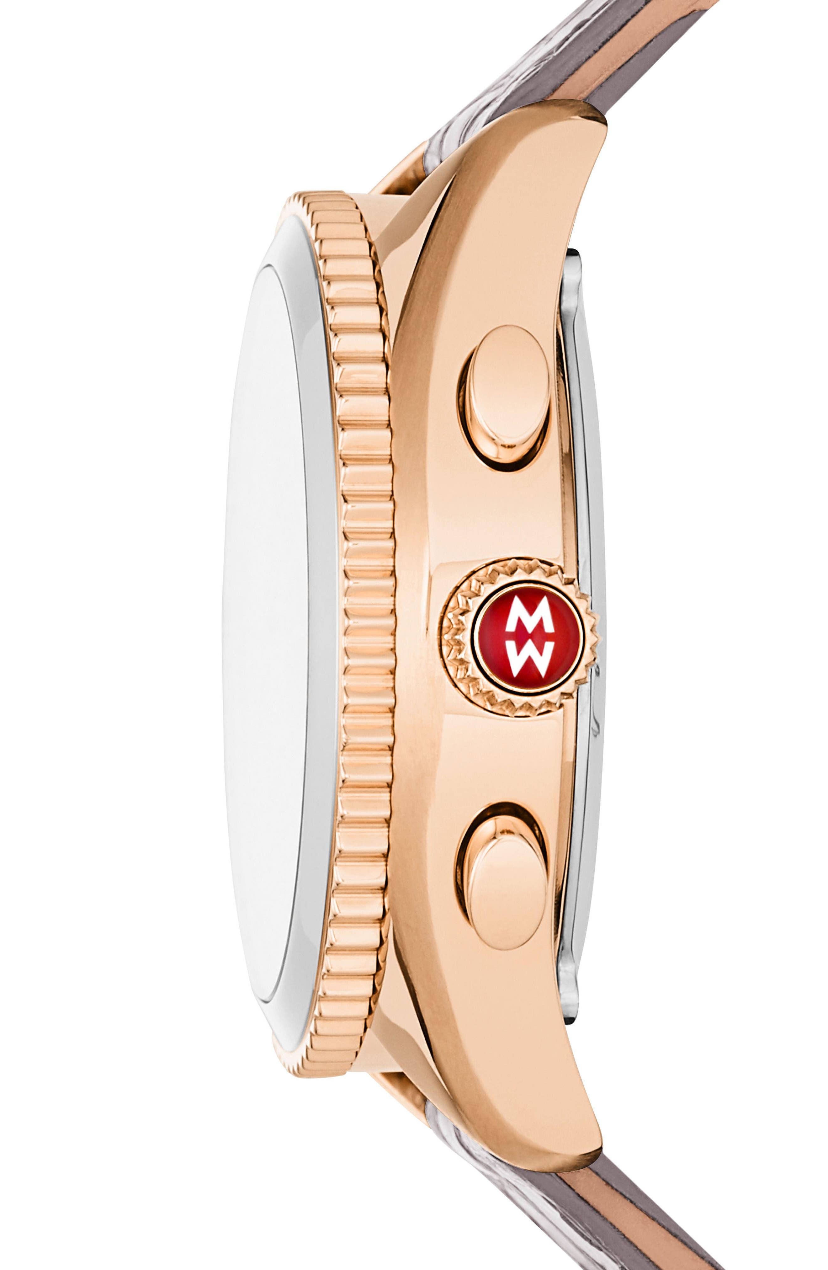 Hybrid Tracker Watch, 38mm,                             Alternate thumbnail 2, color,                             Grey/ Rose Gold
