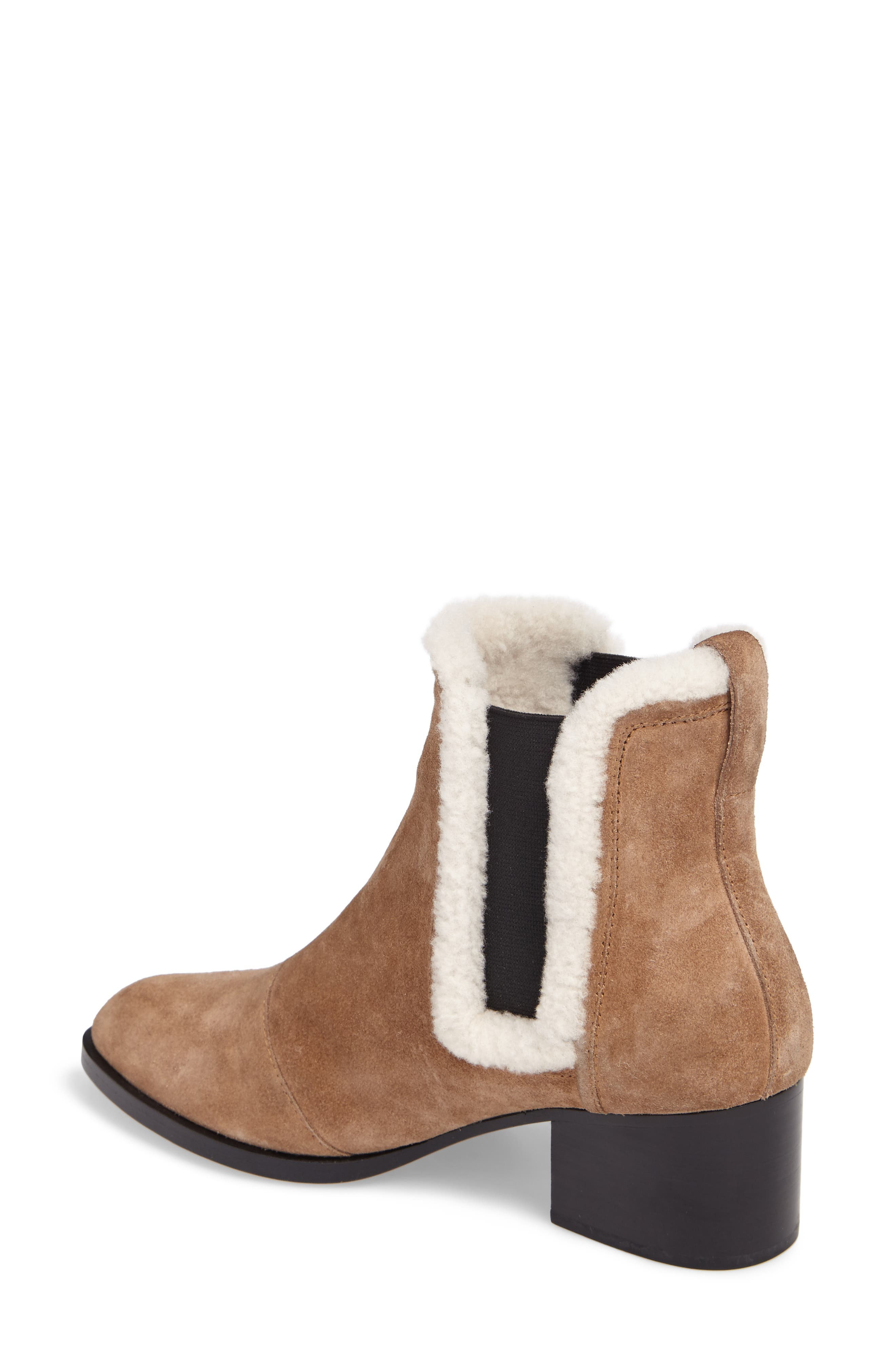 Walker Bootie with Genuine Shearling Trim,                             Alternate thumbnail 2, color,                             Camel