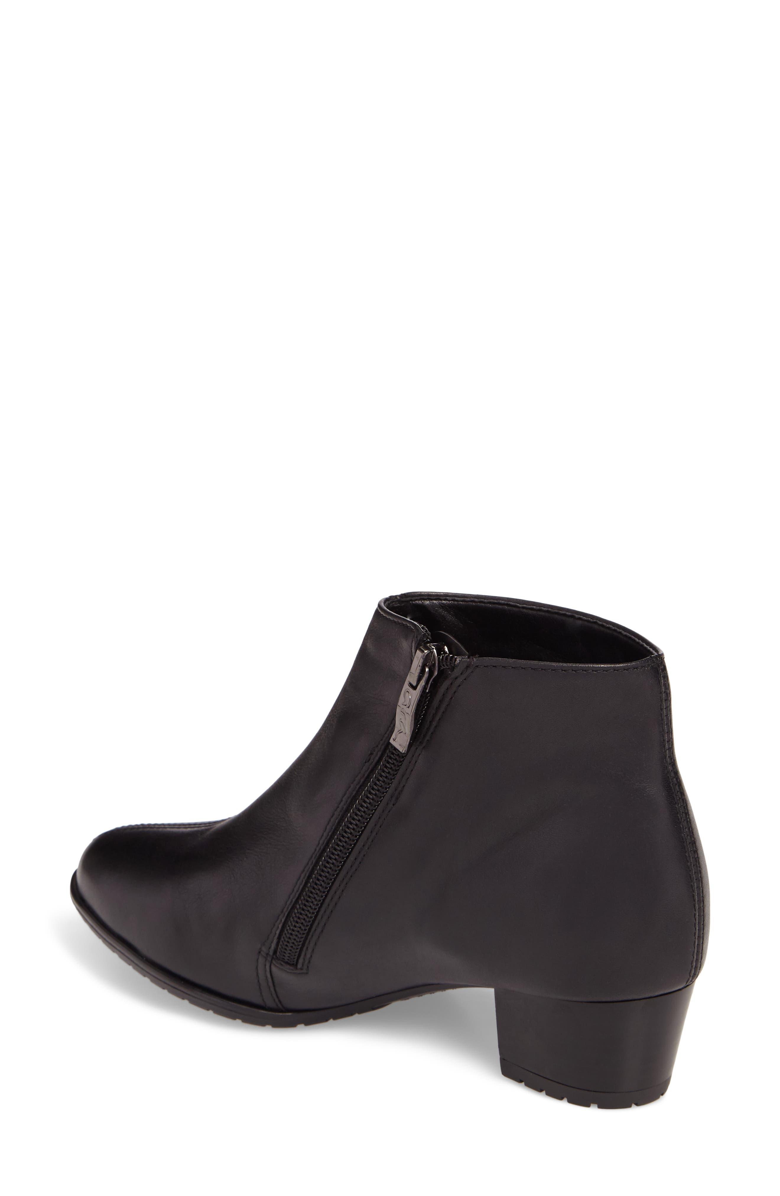 Prisha Waterproof Gore-Tex<sup>®</sup> Bootie,                             Alternate thumbnail 2, color,                             Black Leather