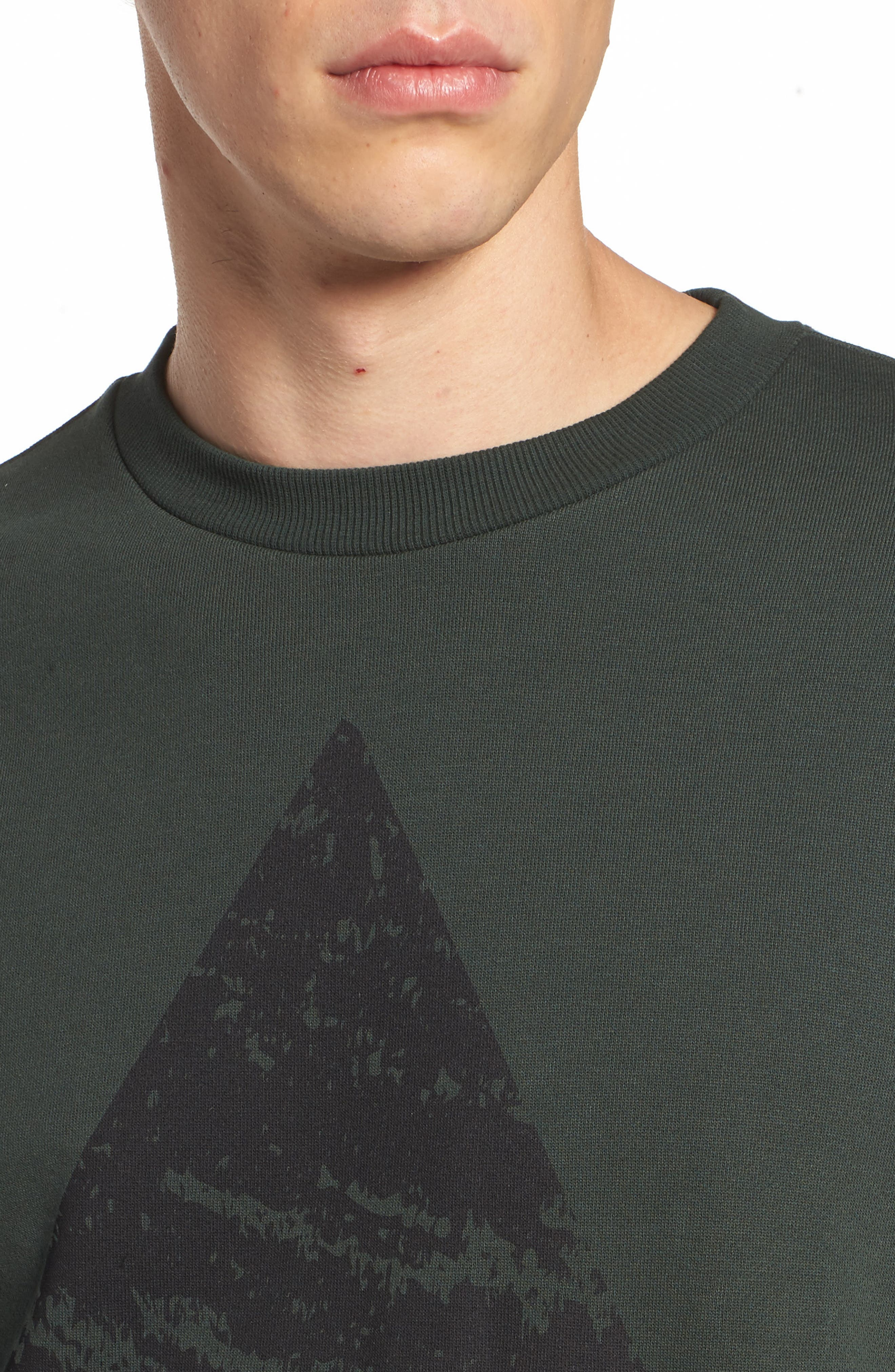 Adrian Sweatshirt,                             Alternate thumbnail 4, color,                             Green Mountain Peak