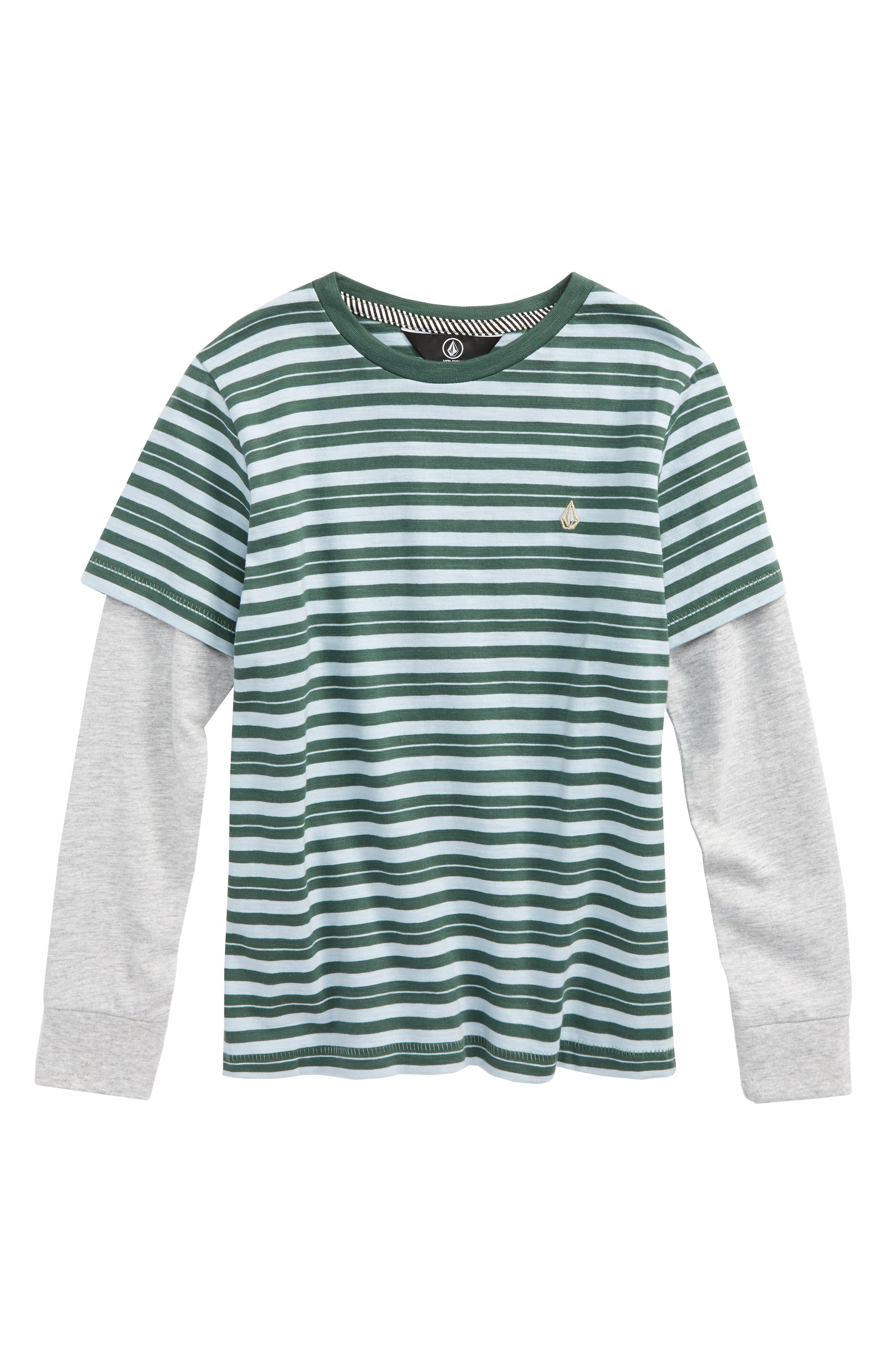 Alternate Image 1 Selected - Volcom Impact Twofer Layered T-Shirt (Toddler Boys & Little Boys)