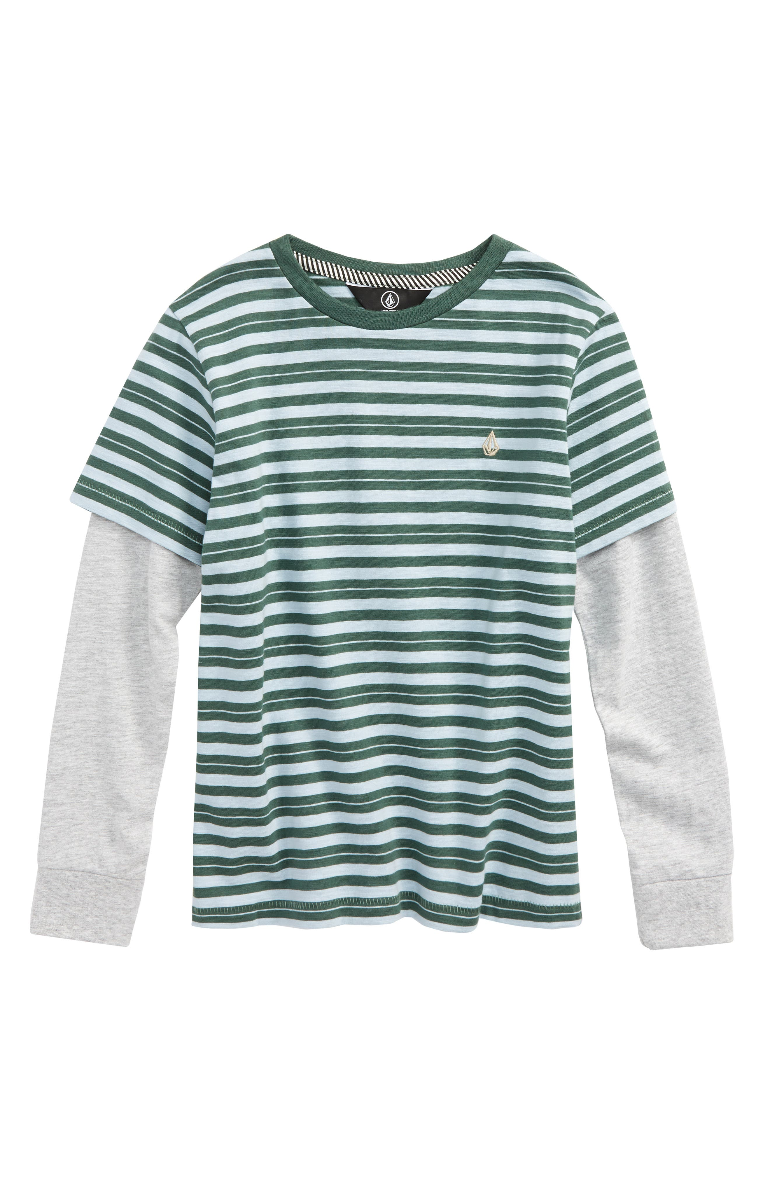 Impact Twofer Layered T-Shirt,                         Main,                         color, Evergreen
