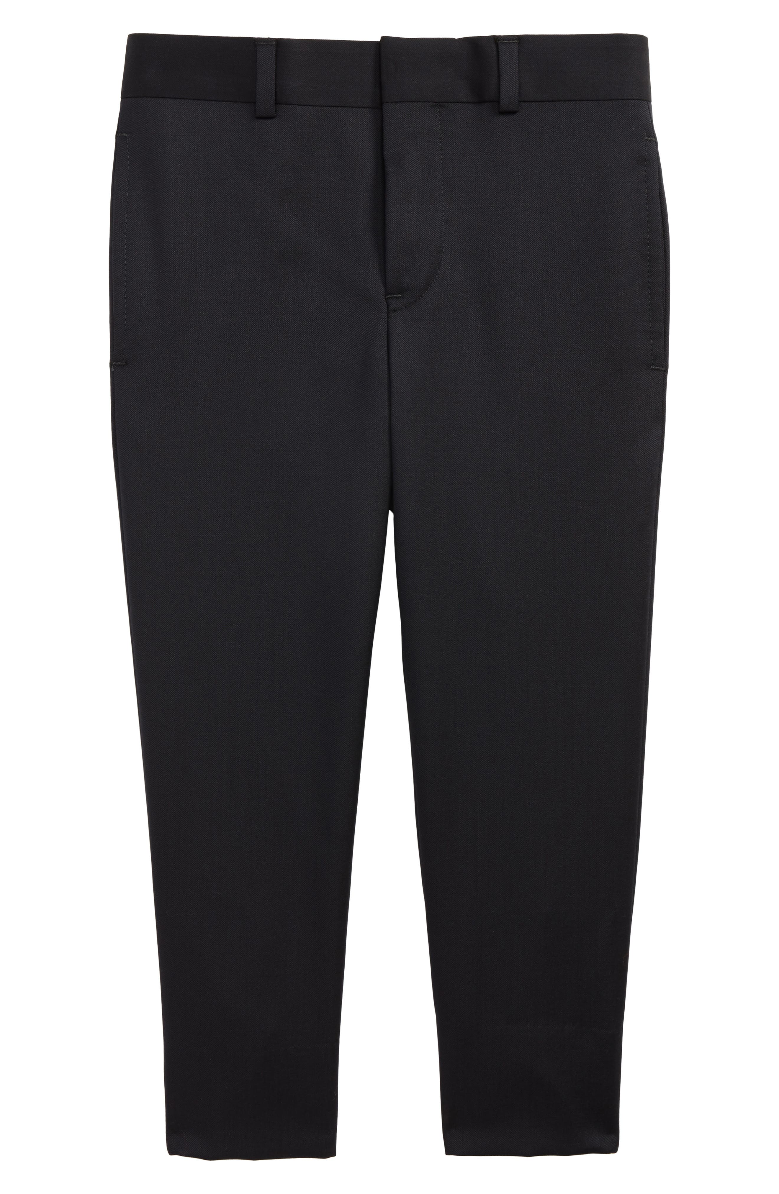 Flat Front Trousers,                         Main,                         color, Navy