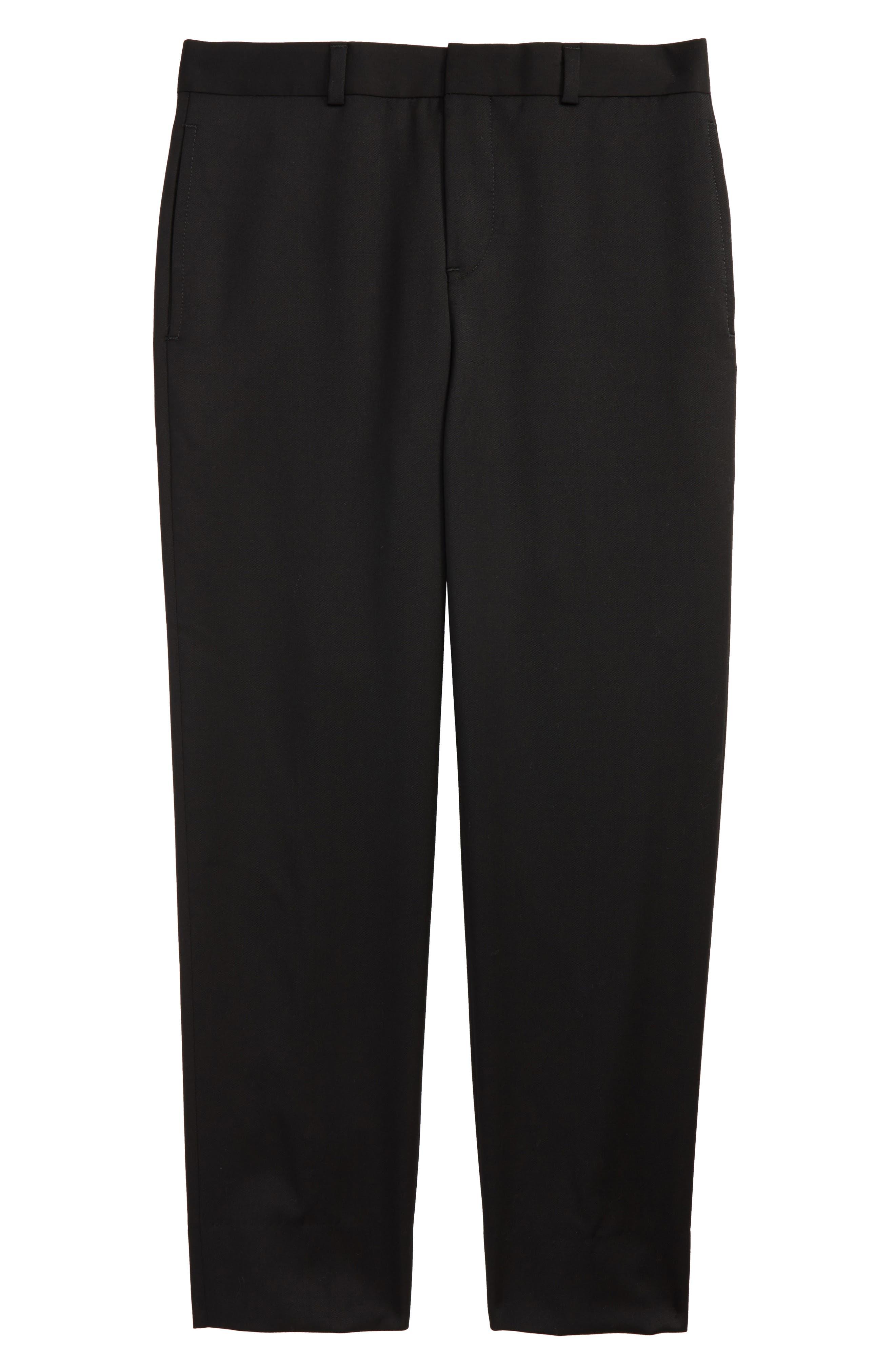 Flat Front Trousers,                             Main thumbnail 1, color,                             Black