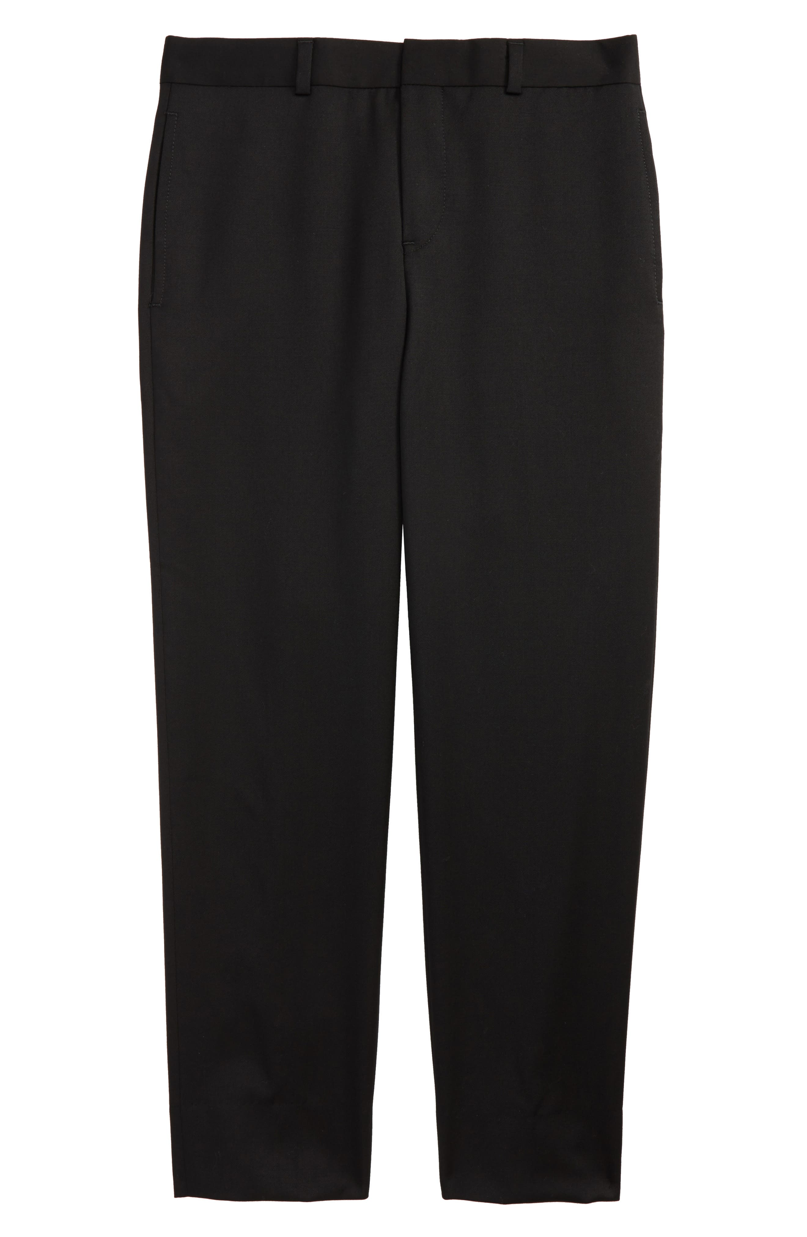 Flat Front Trousers,                         Main,                         color, Black