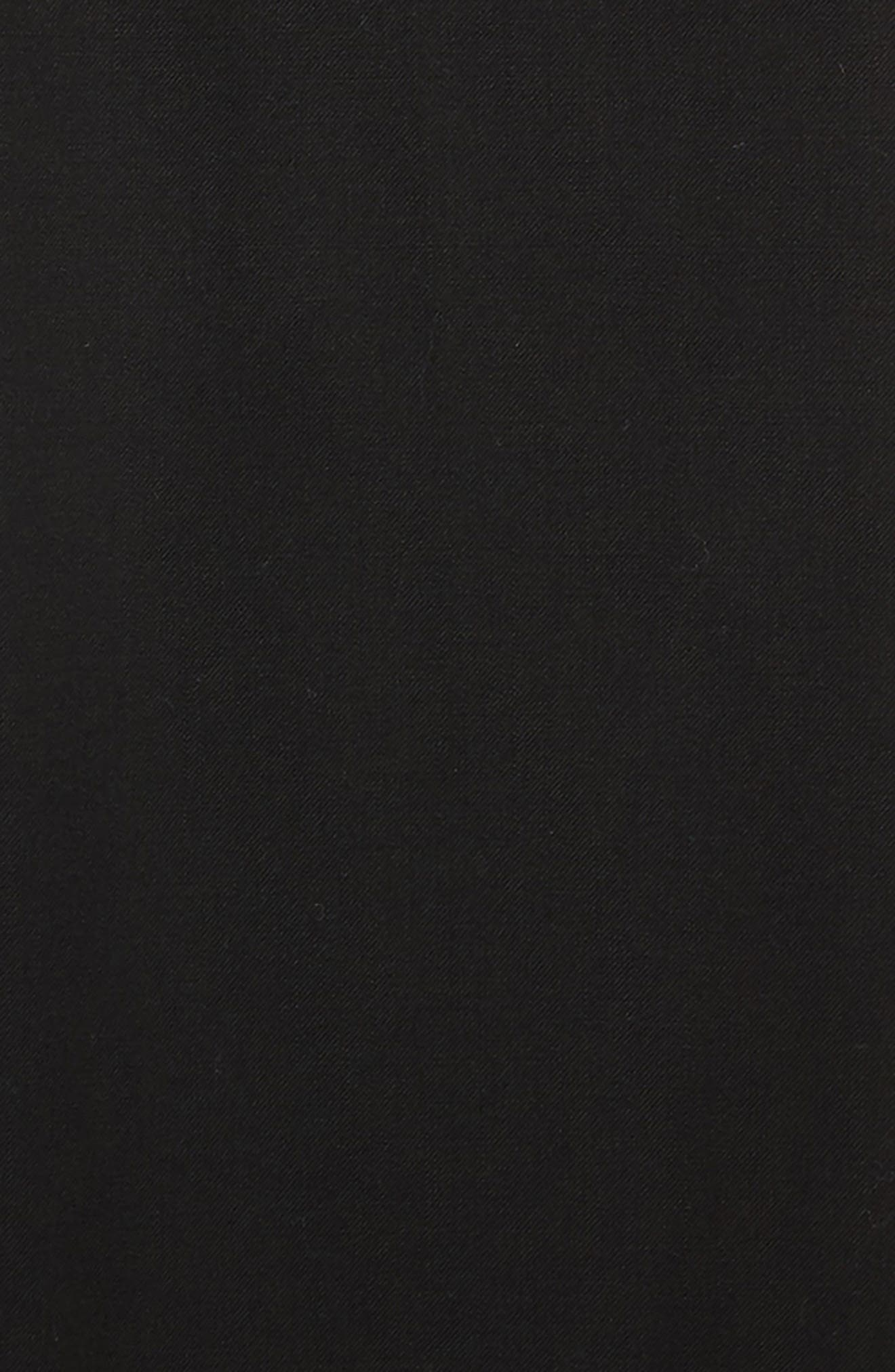Flat Front Trousers,                             Alternate thumbnail 2, color,                             Black