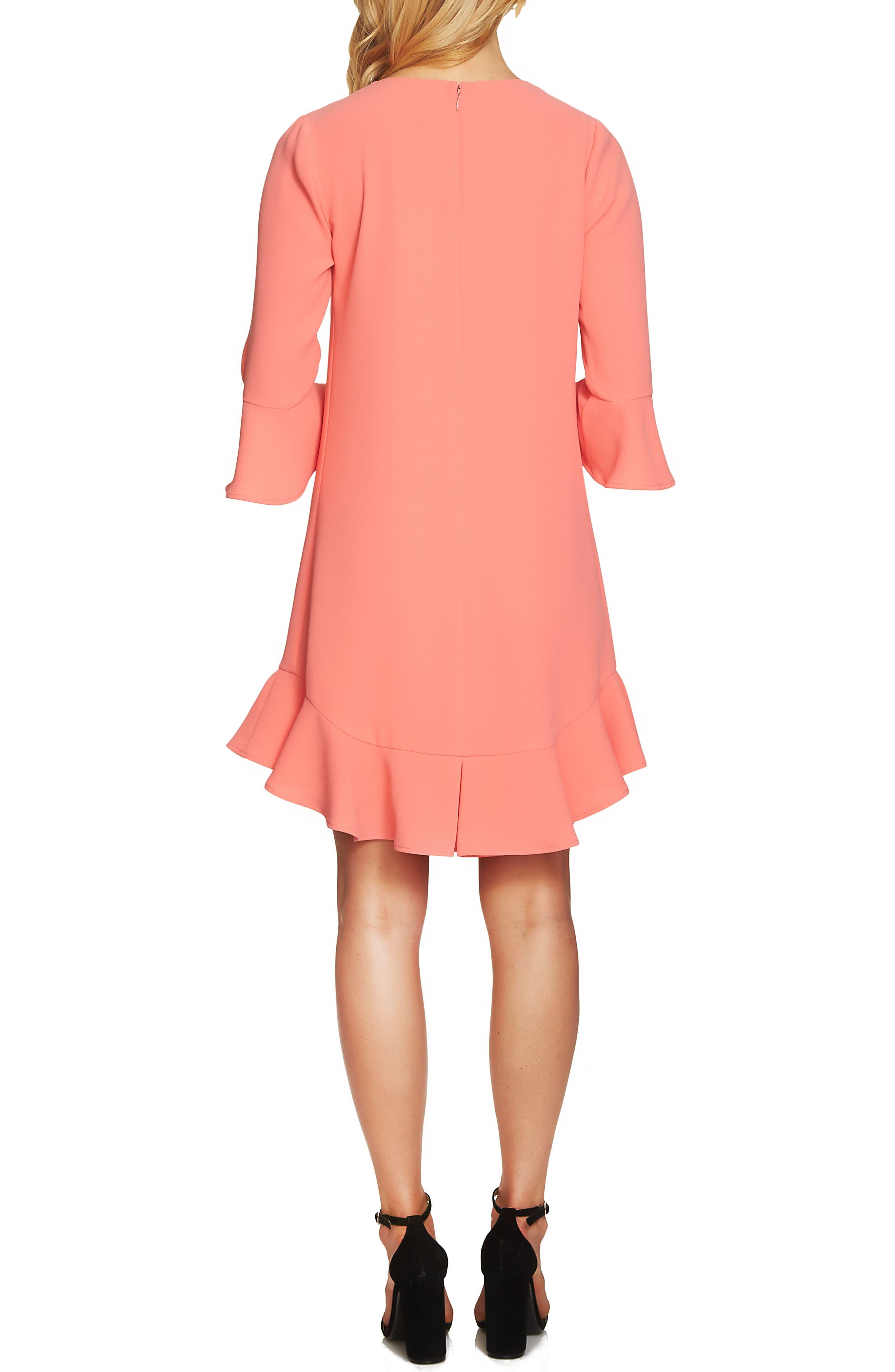 Alternate Image 2  - CeCe Ruffle Hem Trim Dress
