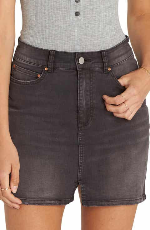 Billabong Black Magic Denim Skirt (Black Pebble)