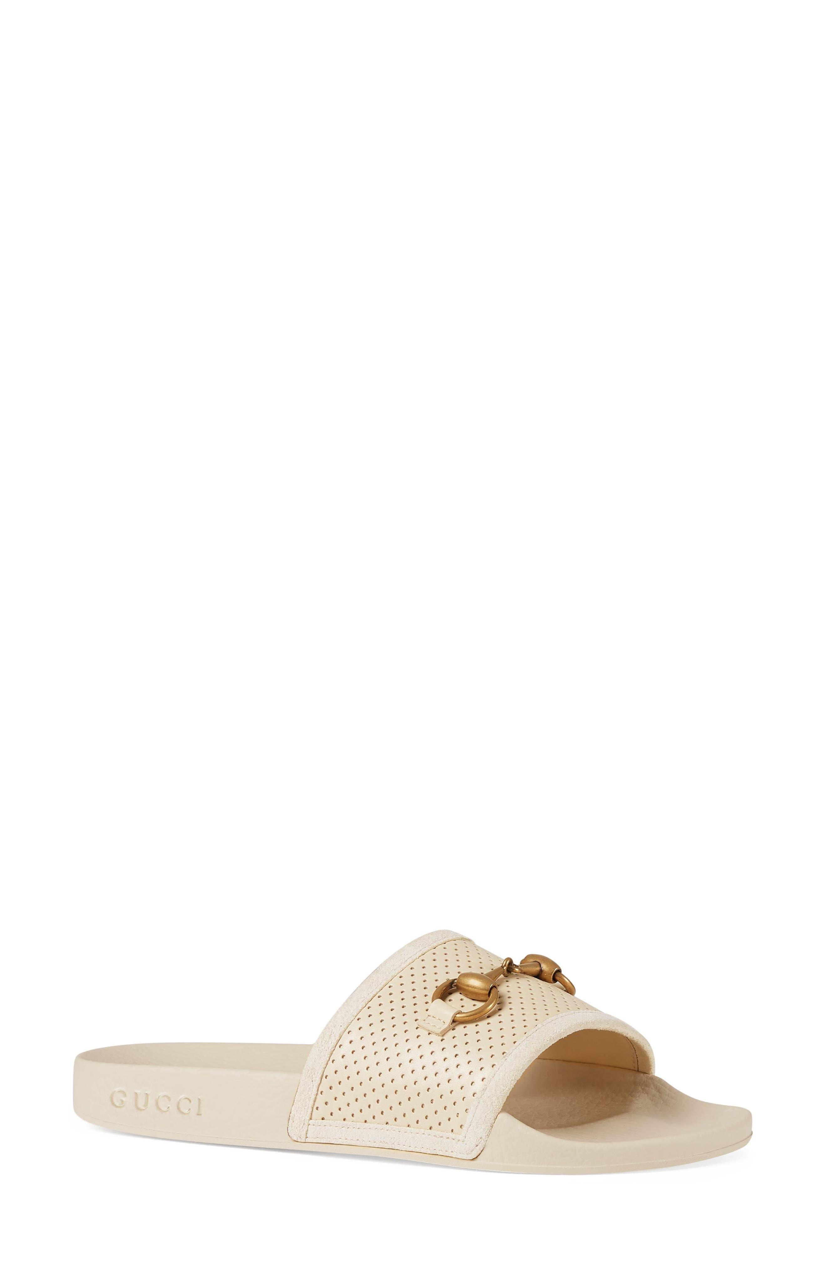 Alternate Image 1 Selected - Gucci Pursuit Horsebit Slide Sandal (Women)