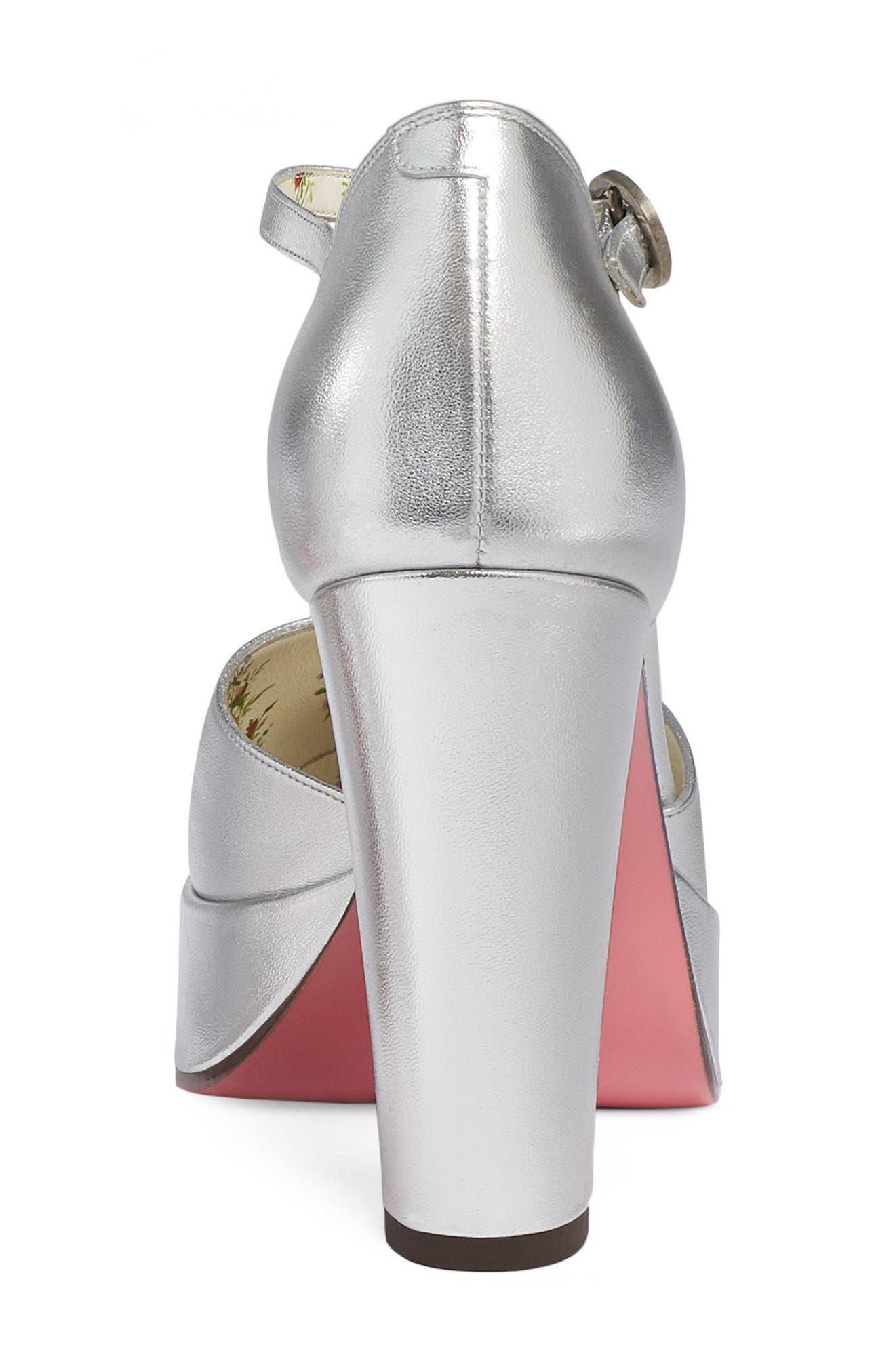 Alternate Image 4  - Gucci Agon Ankle Strap Platform Pump (Women)