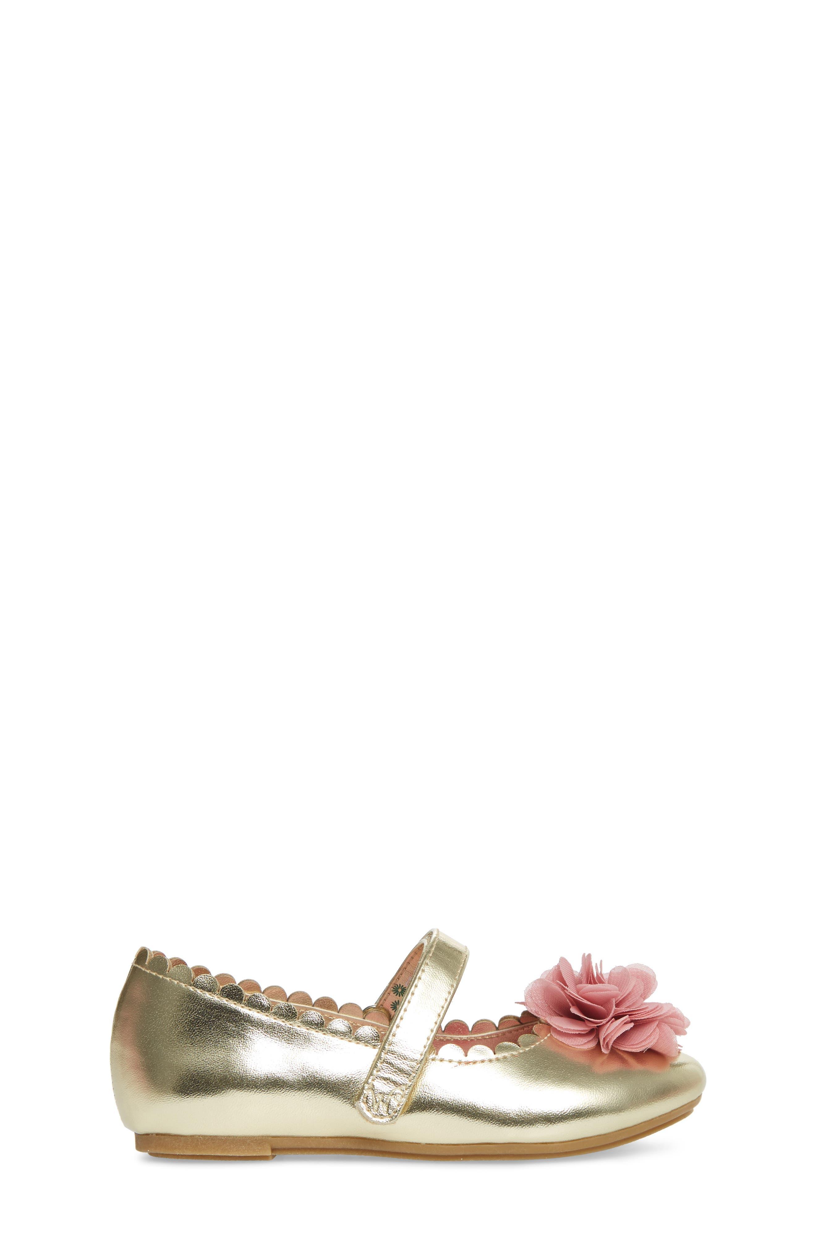 Alternate Image 3  - WellieWishers from American Girl Ashlyn Flower Strap Ballet Flat (Walker & Toddler)