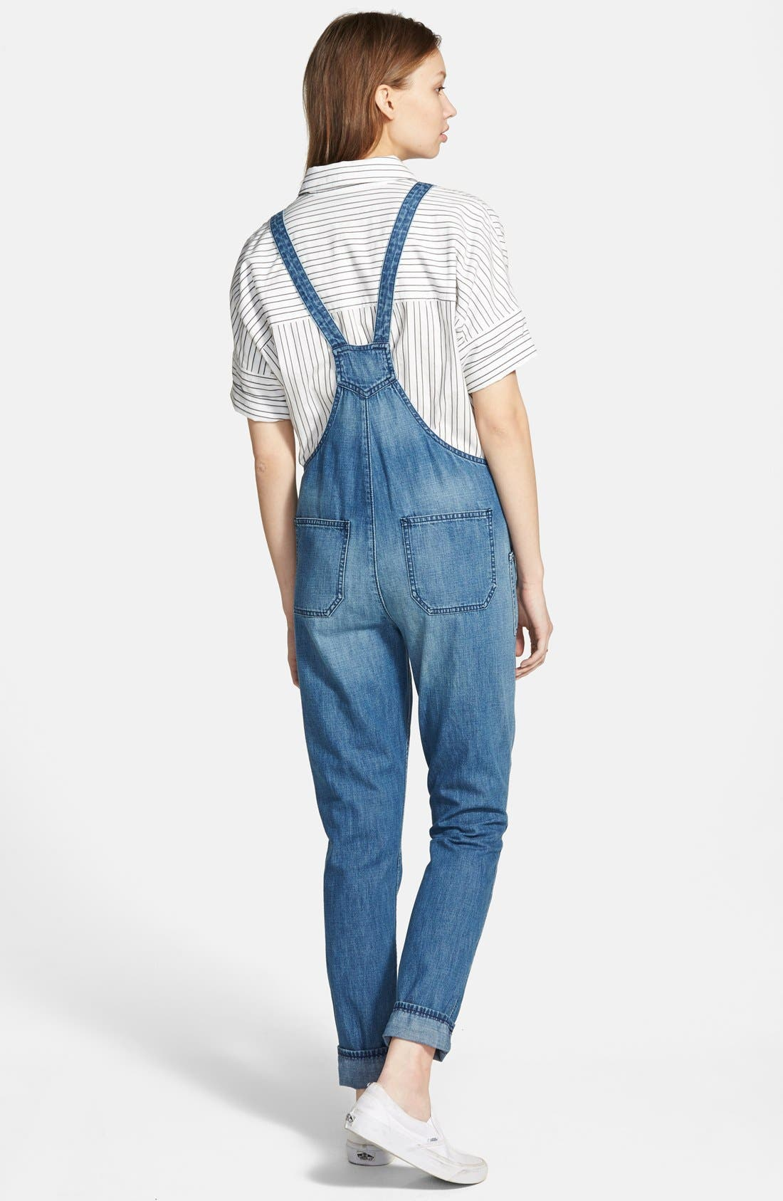 Alternate Image 2  - Madewell 'Park' Denim Overalls (Dixon)