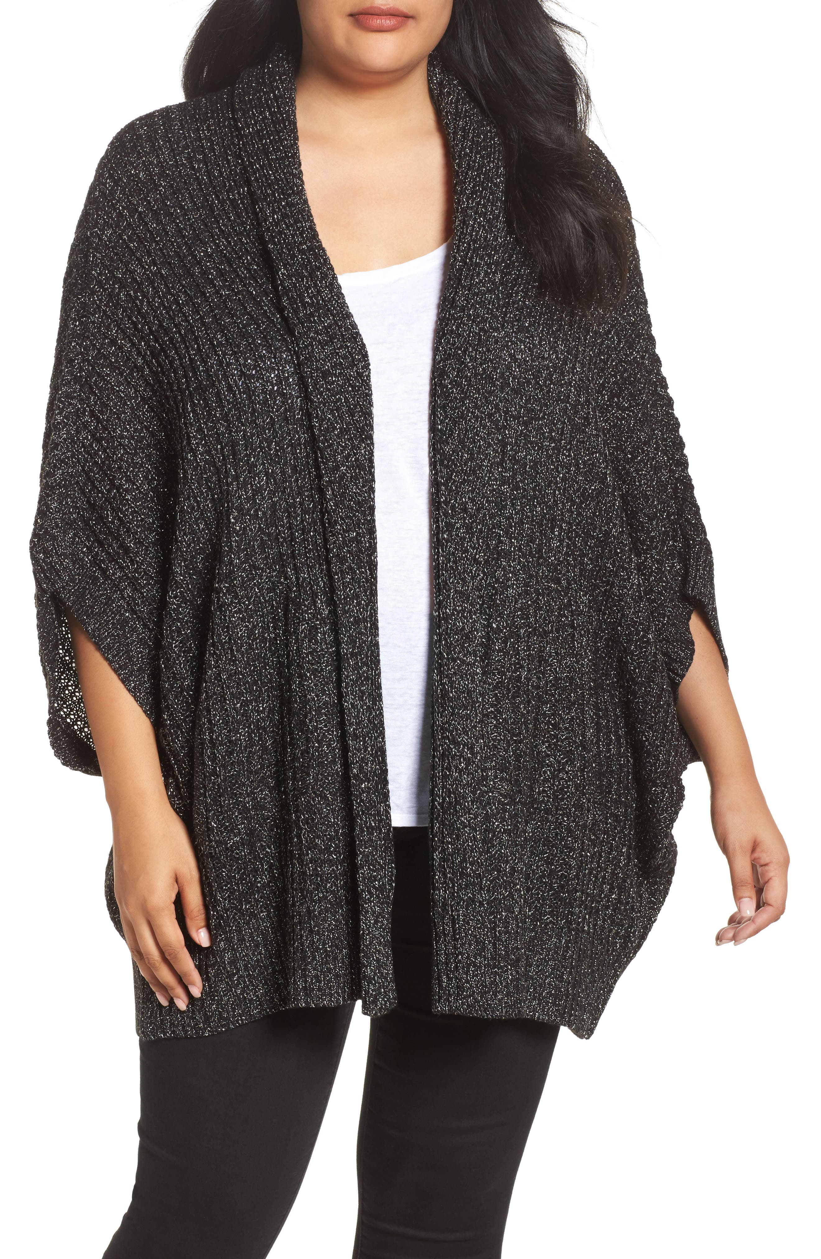 Alternate Image 1 Selected - Melissa McCarthy Seven7 Cocoon Cardigan (Plus Size)