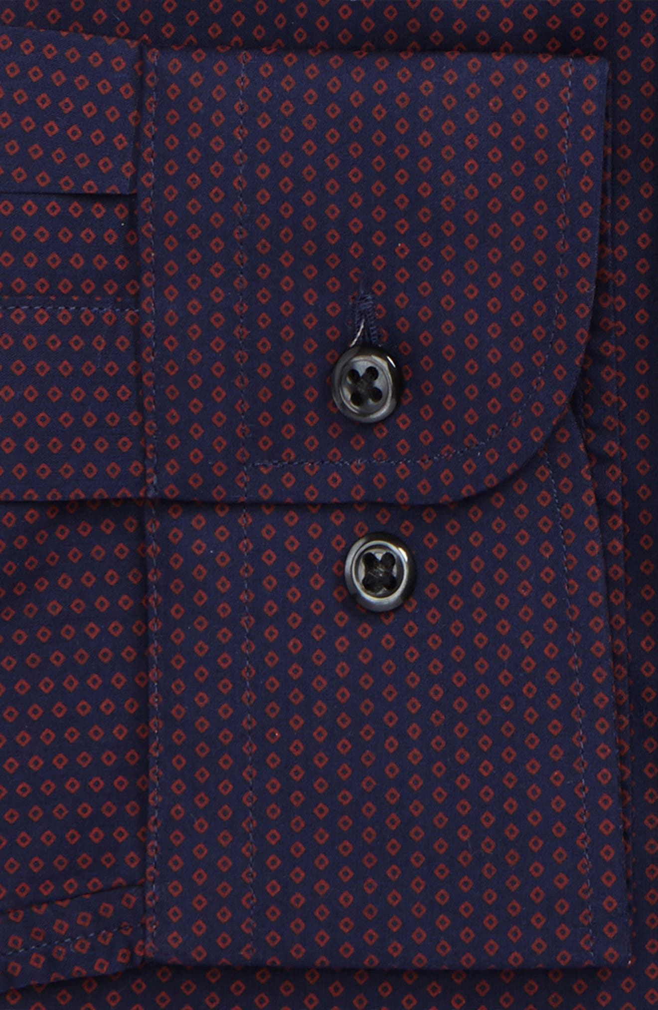 Extra Trim Fit Dress Shirt,                             Alternate thumbnail 2, color,                             Red Chili