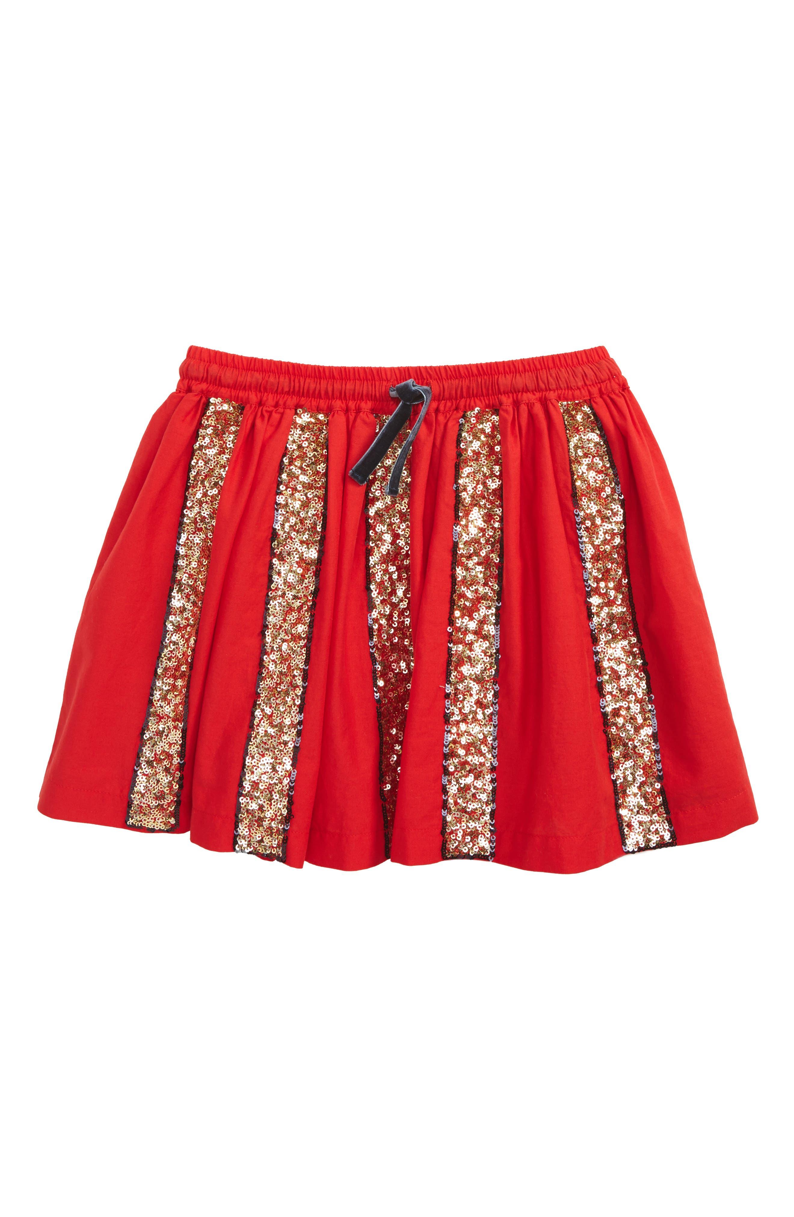 Mini Boden Sequin Stripe Skater Skirt (Little Girls & Big Girls)