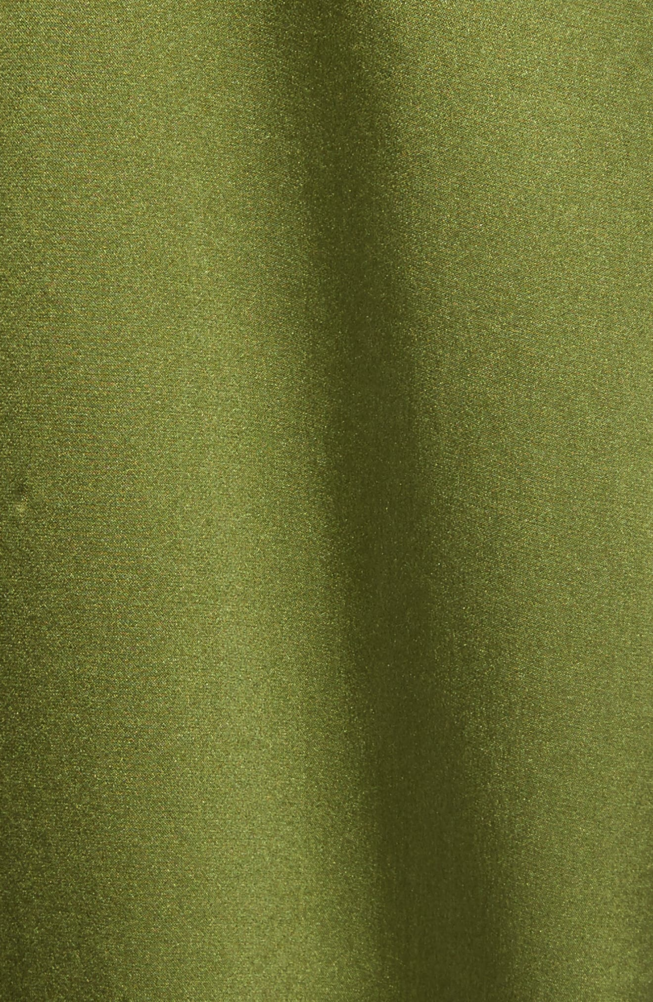 Ansley Print Silk Shirt,                             Alternate thumbnail 5, color,                             Combat Green