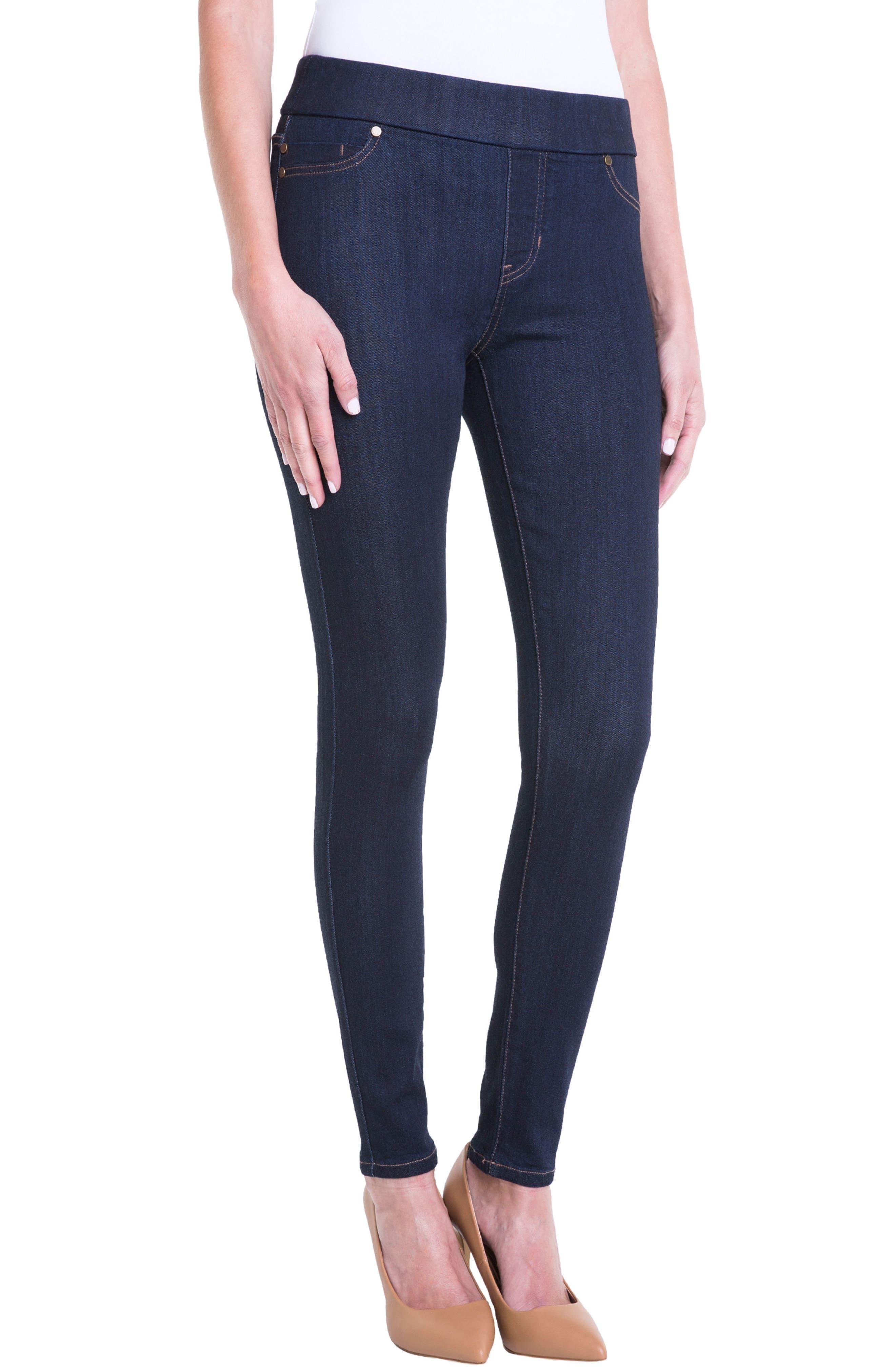 Jeans Company Sienna Mid Rise Soft Stretch Denim Leggings,                             Alternate thumbnail 3, color,                             Indigo Rinse