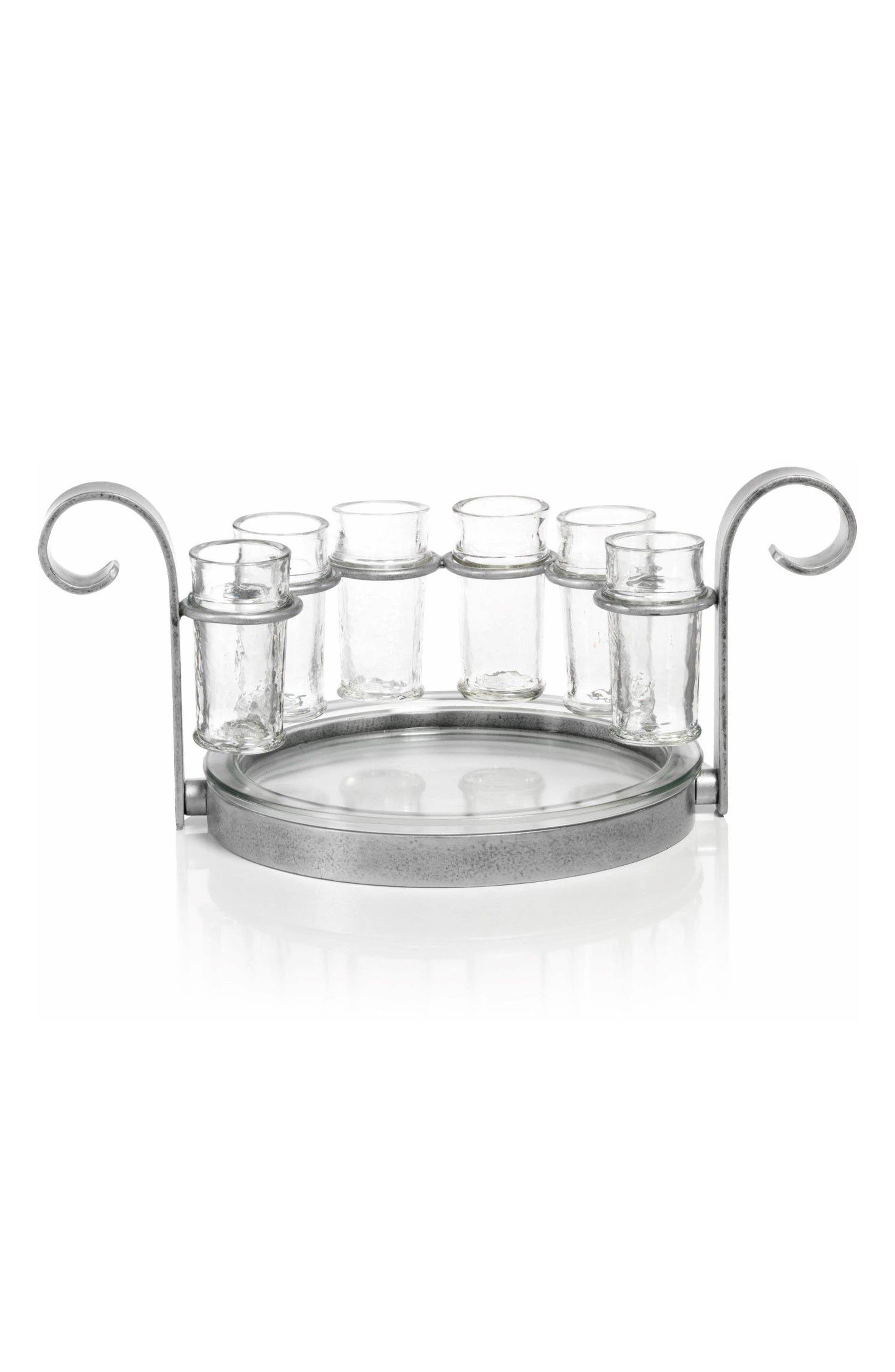 Cabo 7-Piece Shot Glass Set,                         Main,                         color, Silver