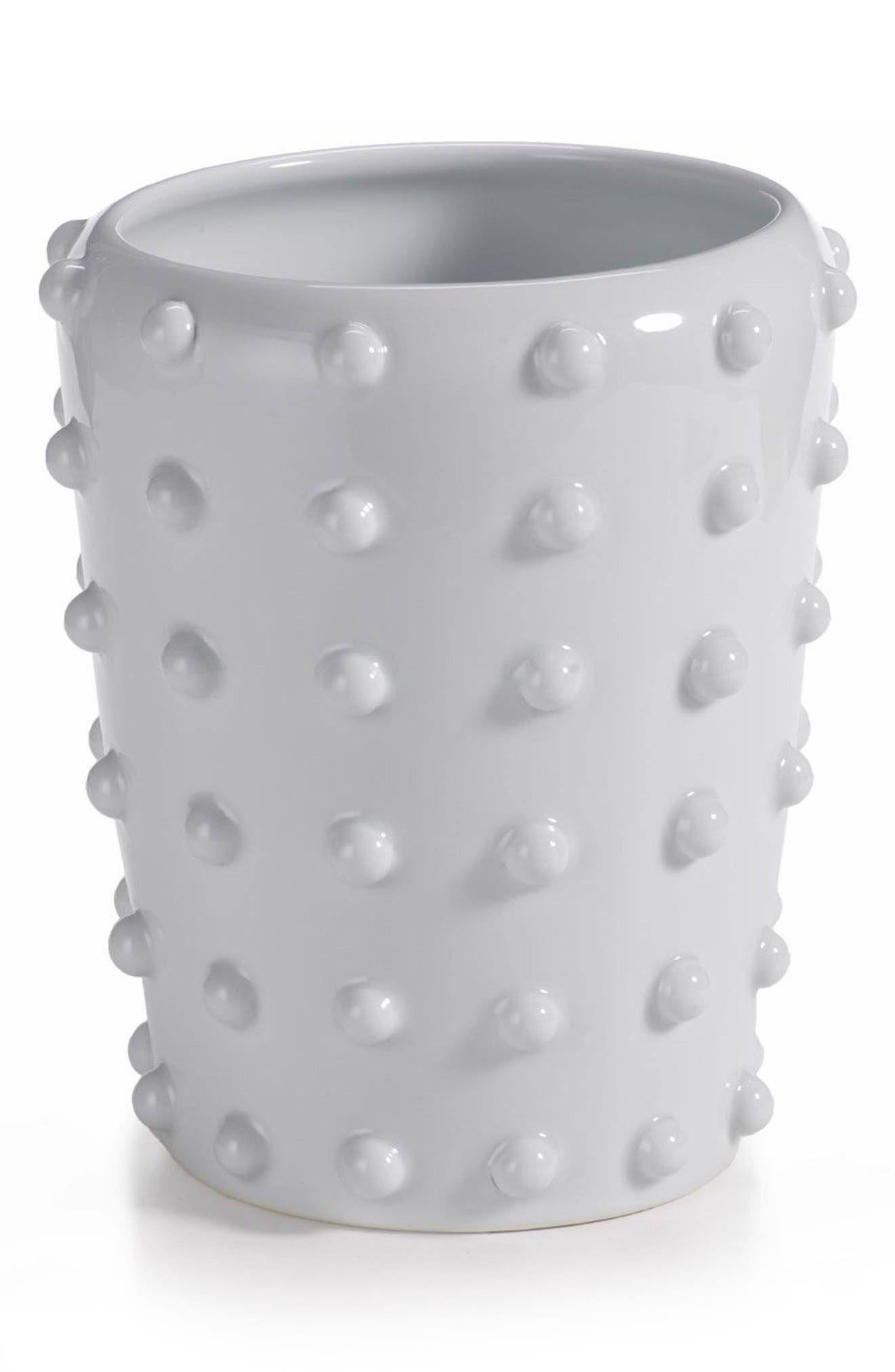 Savas Ceramic Vase,                         Main,                         color, White