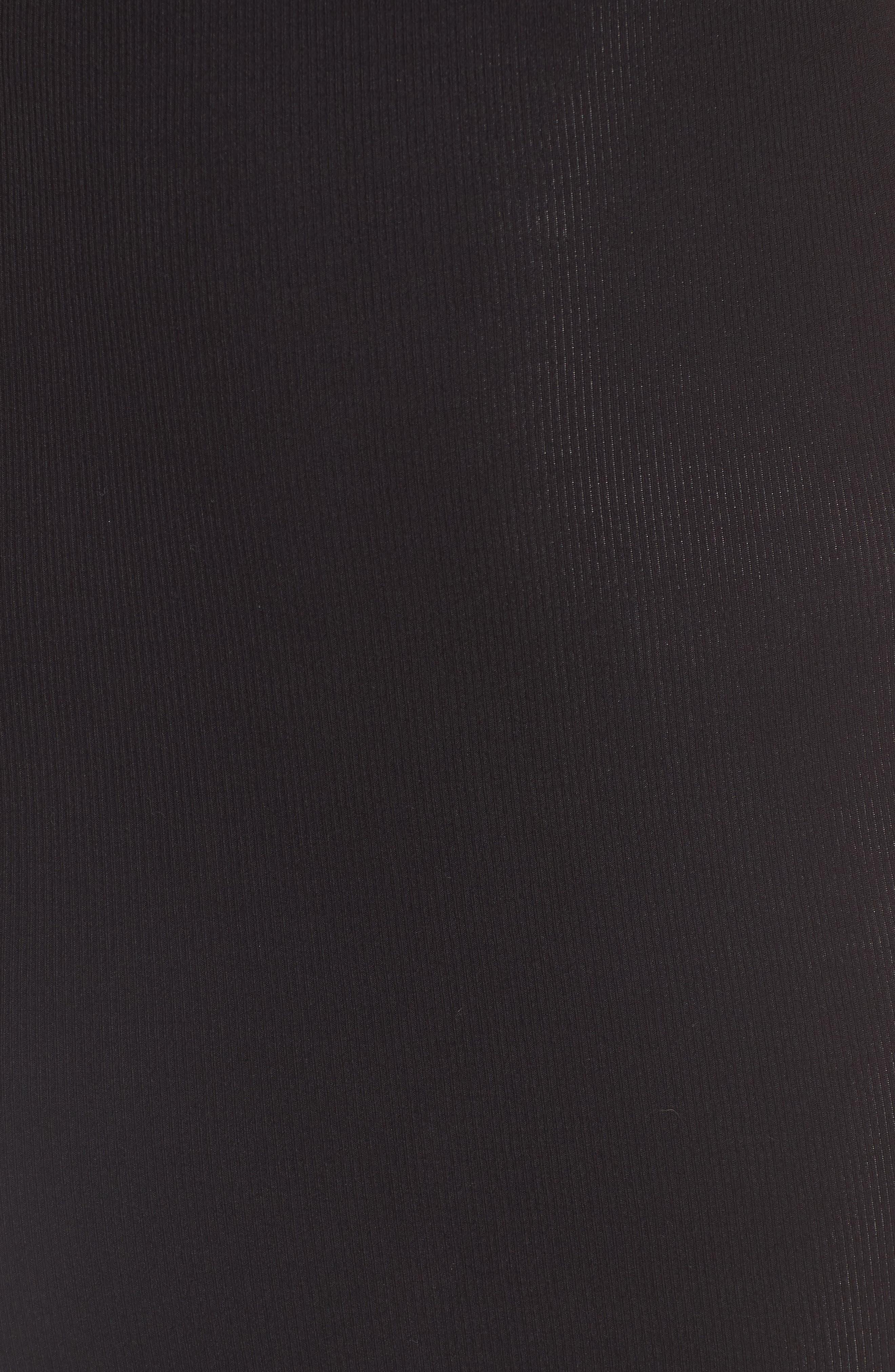 Lace Hem Tank Dress,                             Alternate thumbnail 5, color,                             Black
