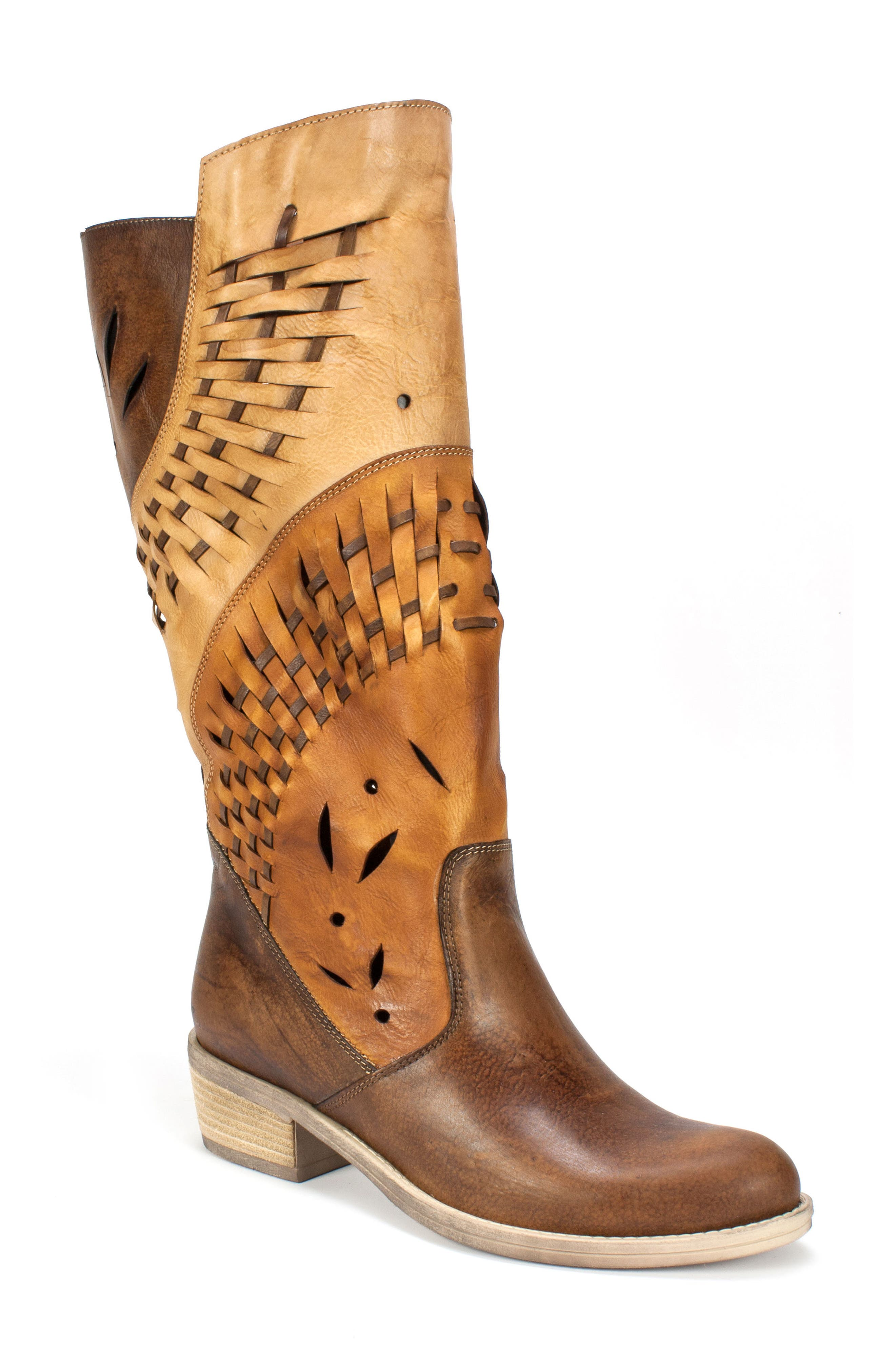 Tallie Western Boot,                         Main,                         color, Tobacco Leather