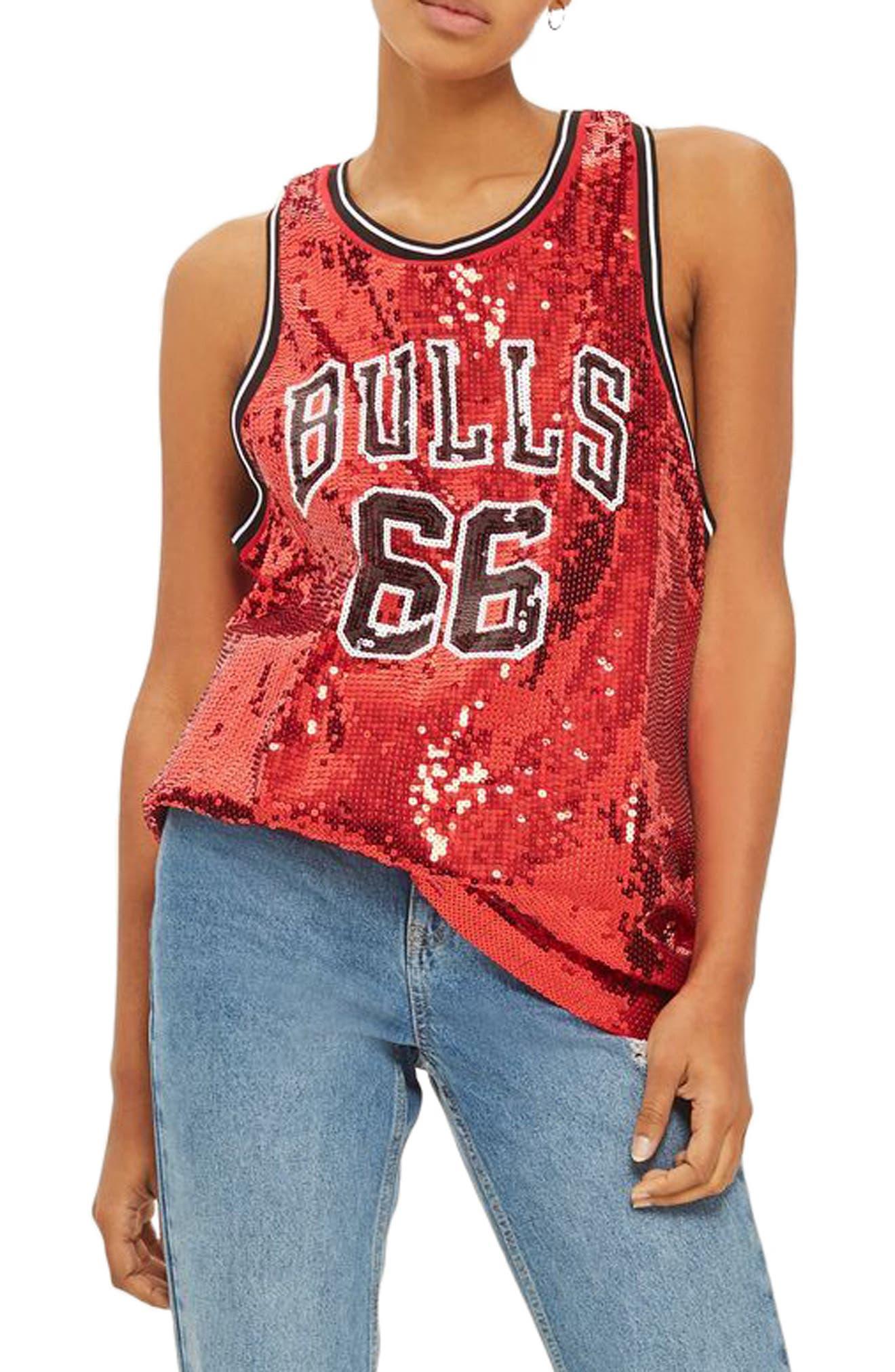Topshop x UNK Chicago Bulls Sequin Jersey