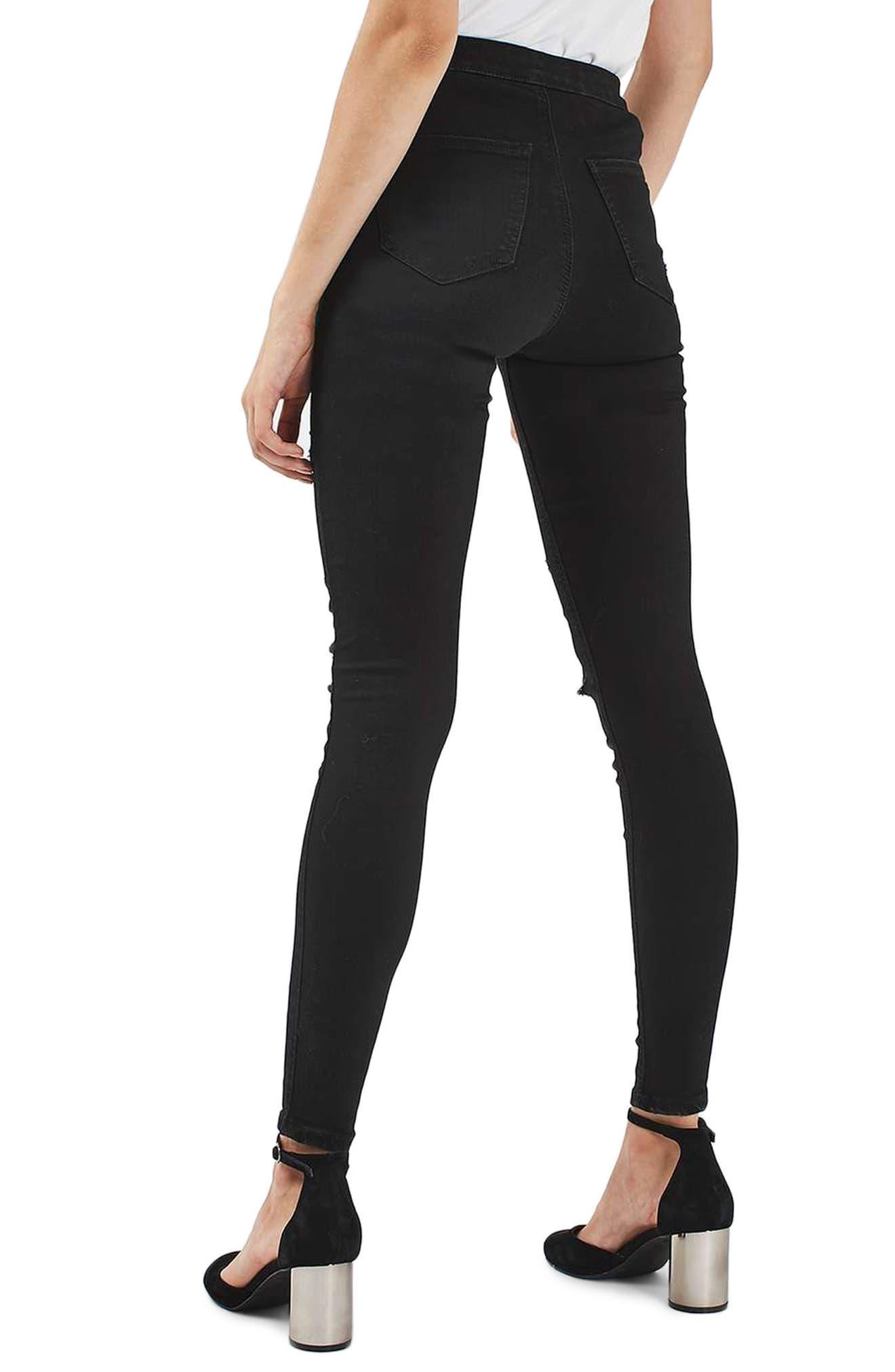 Joni Super Rip Crop Skinny Jeans,                             Alternate thumbnail 3, color,                             Black