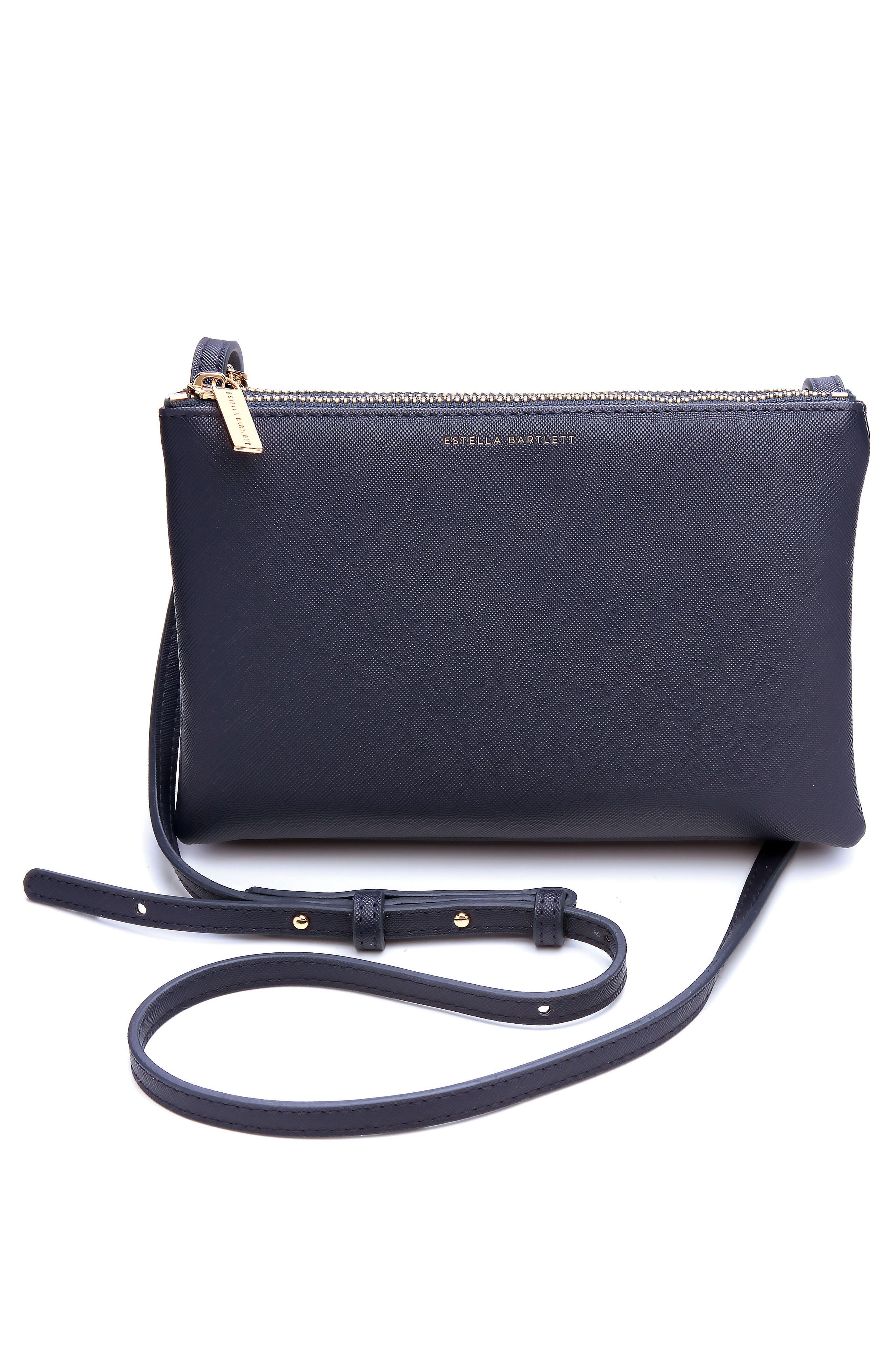 Alternate Image 1 Selected - Estella Bartlett Double Faux Leather Crossbody Bag