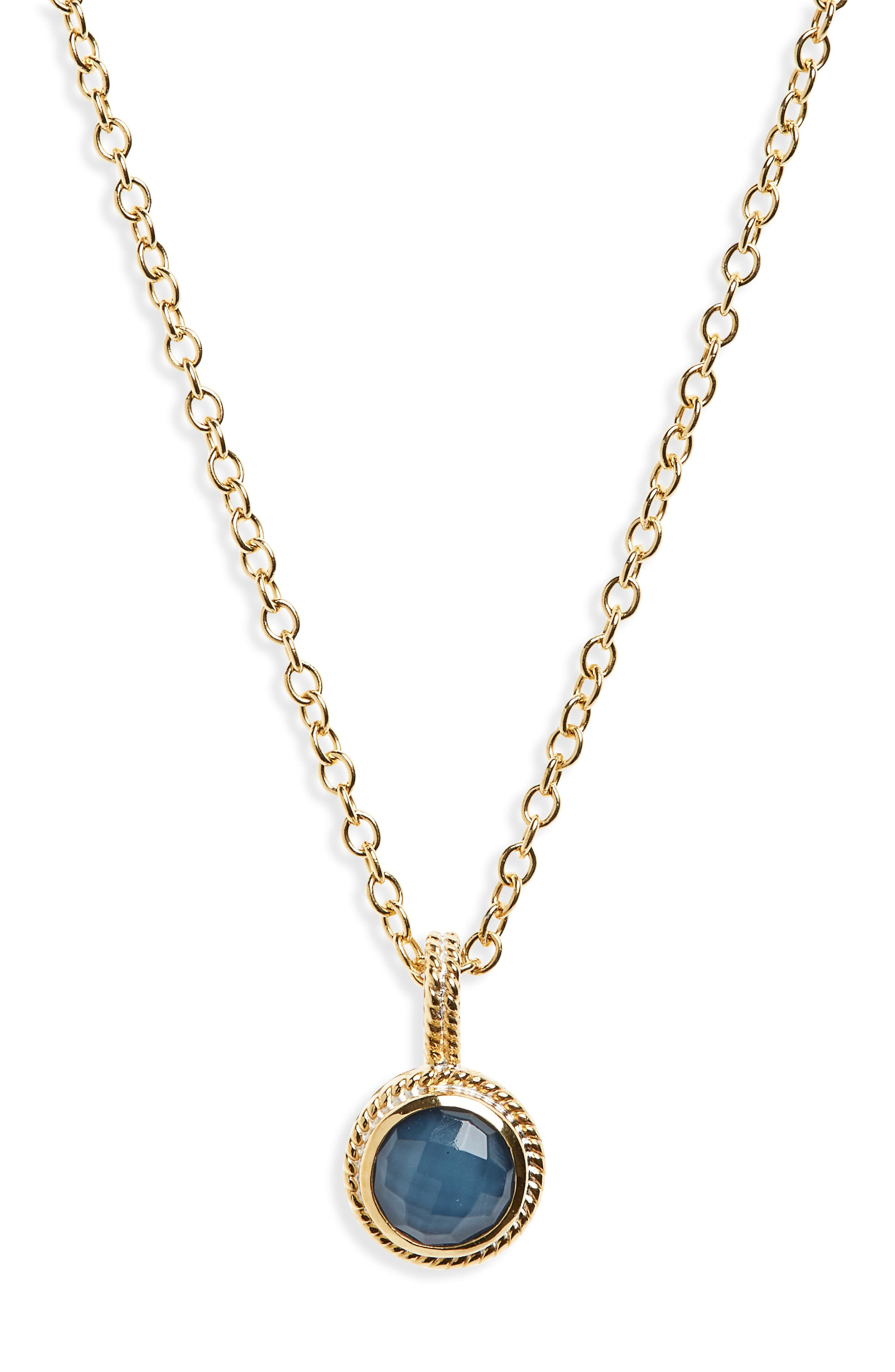 Alternate Image 1 Selected - Anna Beck Semiprecious Stone Round Drop Pendant Necklace