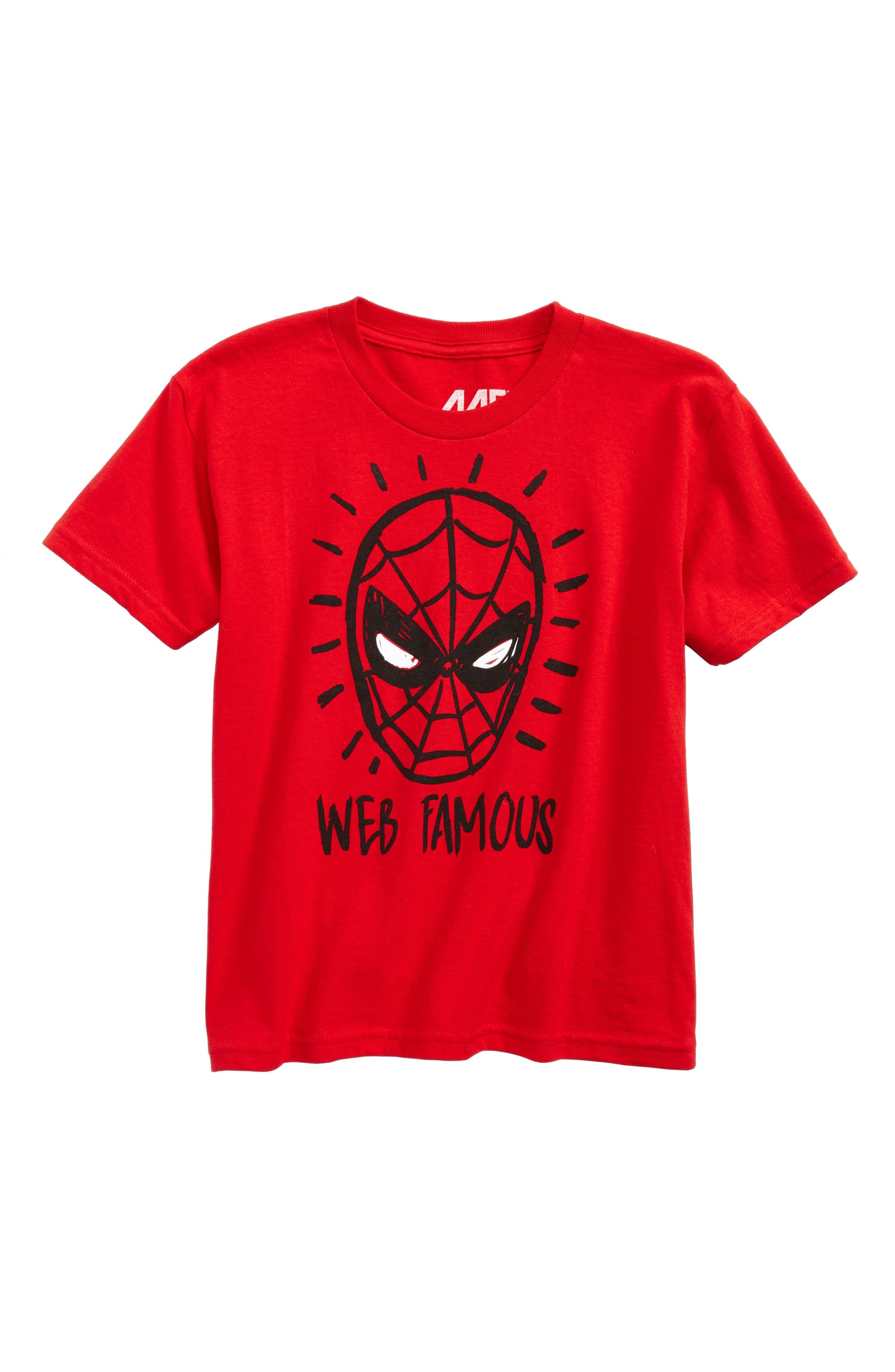 Main Image - Mighty Fine Spider-Man - Web Famous T-Shirt (Toddler Boys, Little Boys & Big Boys)